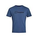Men's Organic Big Colour Logo T-Shirt - Blue - XS