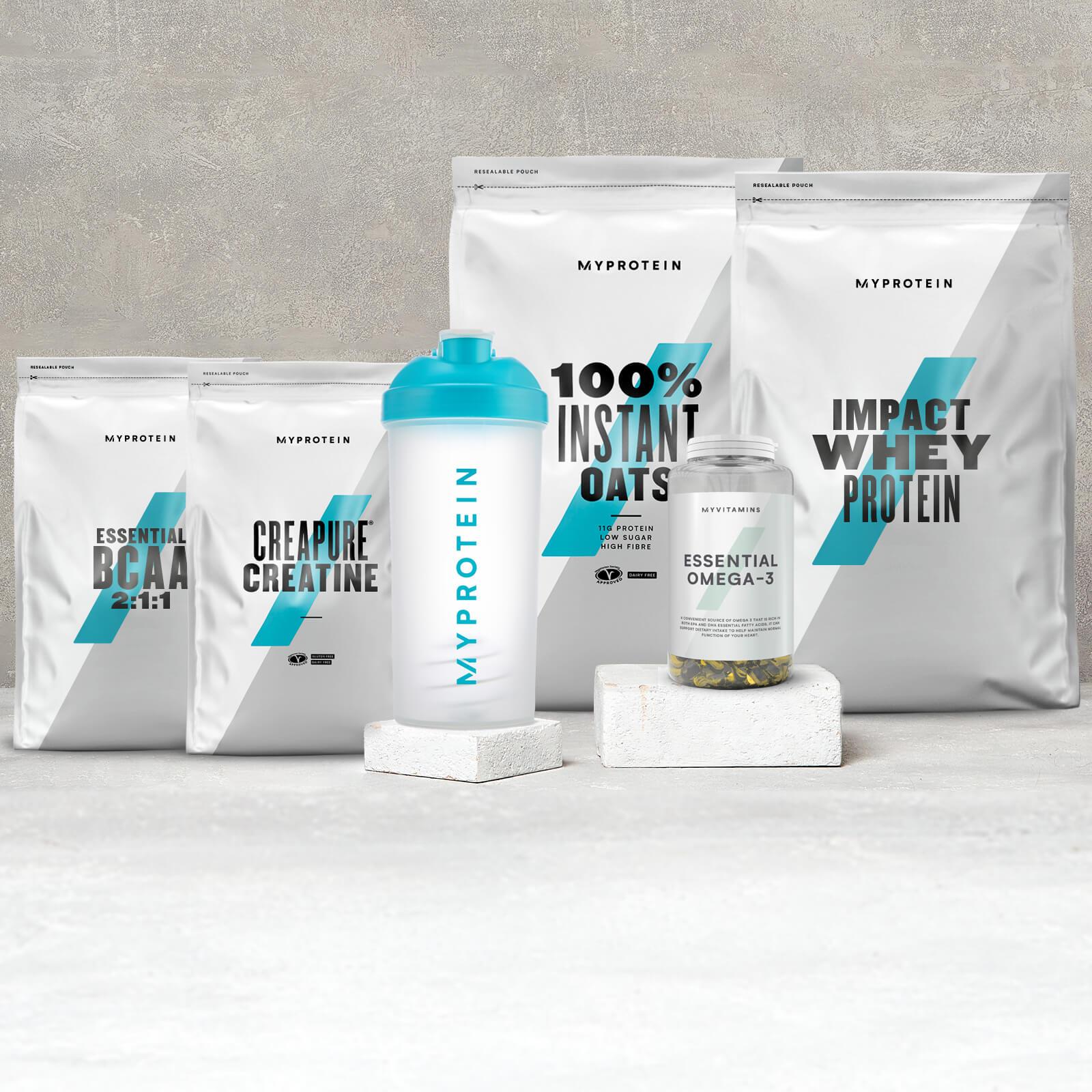 Pack Gain Essentials - Unflavoured 250g - Strawberry Cream 1kg - Unflavoured 250g