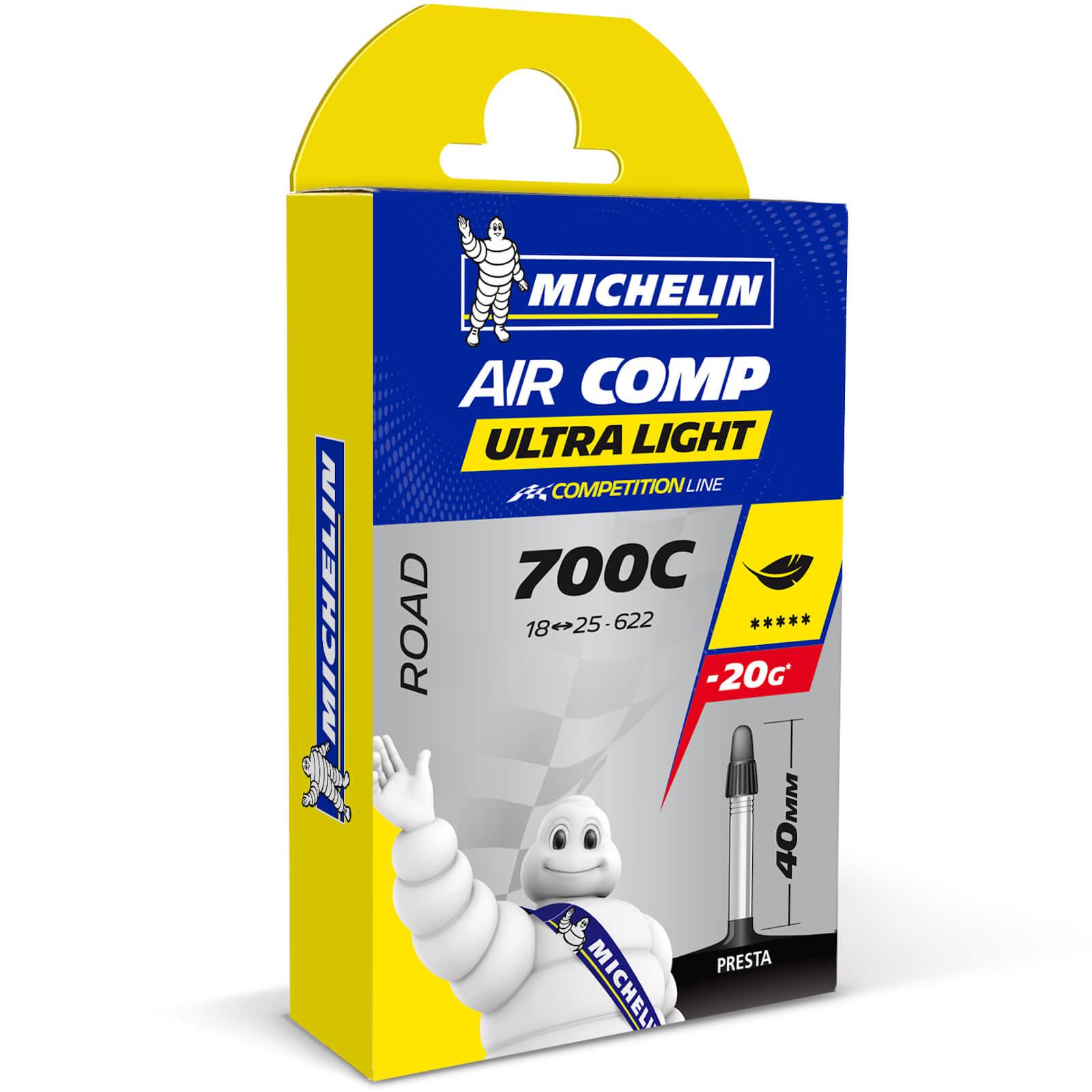 Michelin A1 Aircomp Ultralight Road Inner Tube - 700c x 18-25mm - Presta 60mm