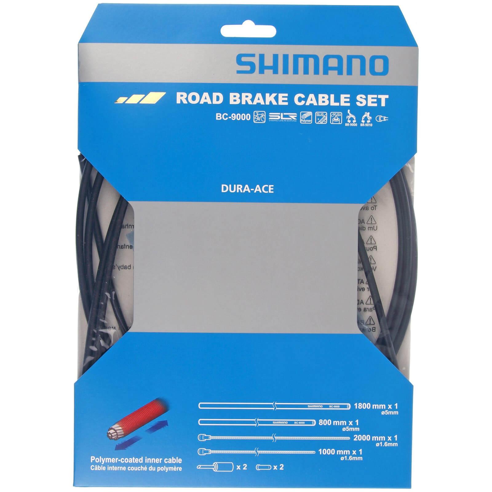 Shimano Road Bremskabelsatz mit Polymer beschichteten Innen - Eine Größe - Schwarz
