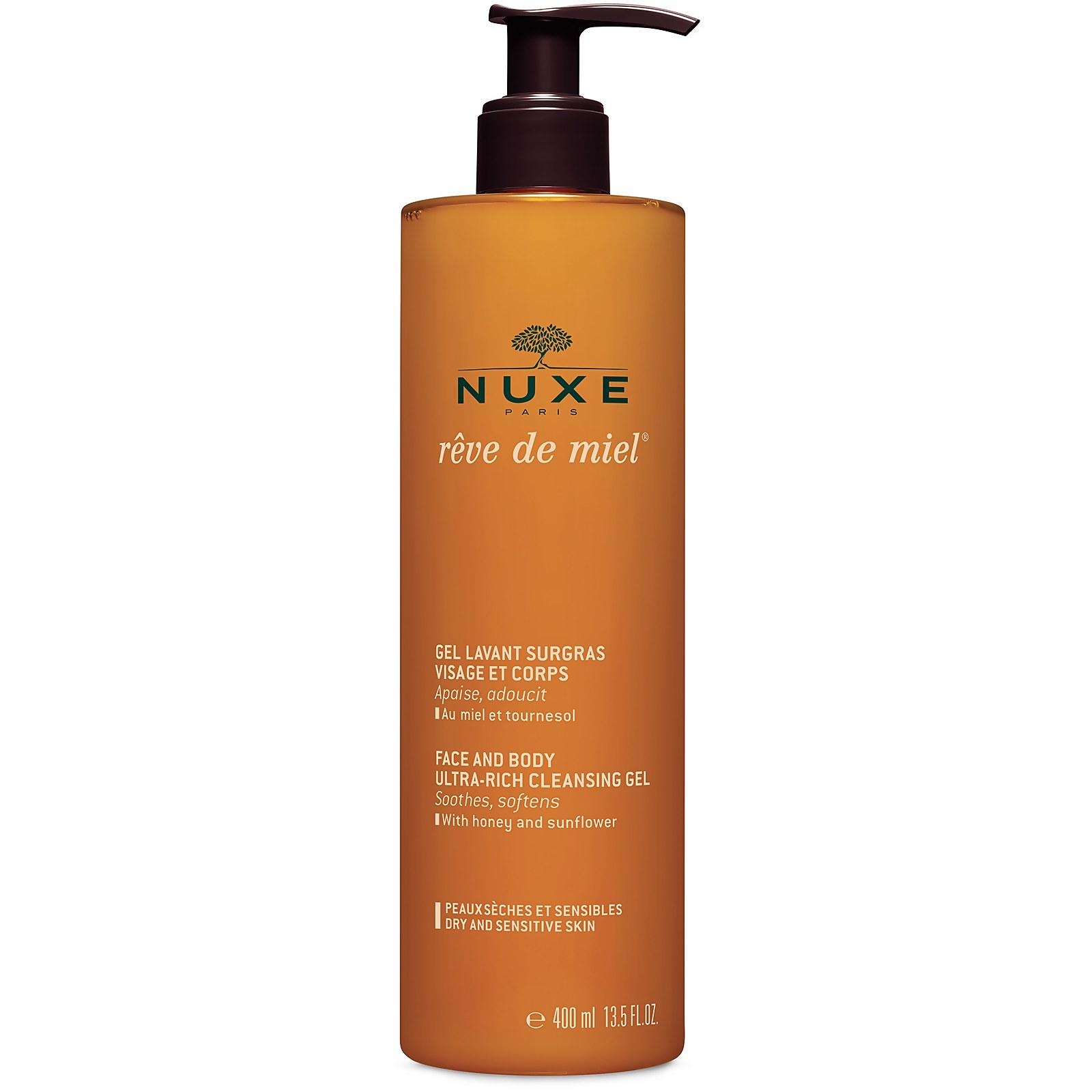 Купить Мягкий очищающий гель для лица и тела NUXE Rêve de Miel Face and Body Ultra-Rich Cleansing Gel (400 мл)