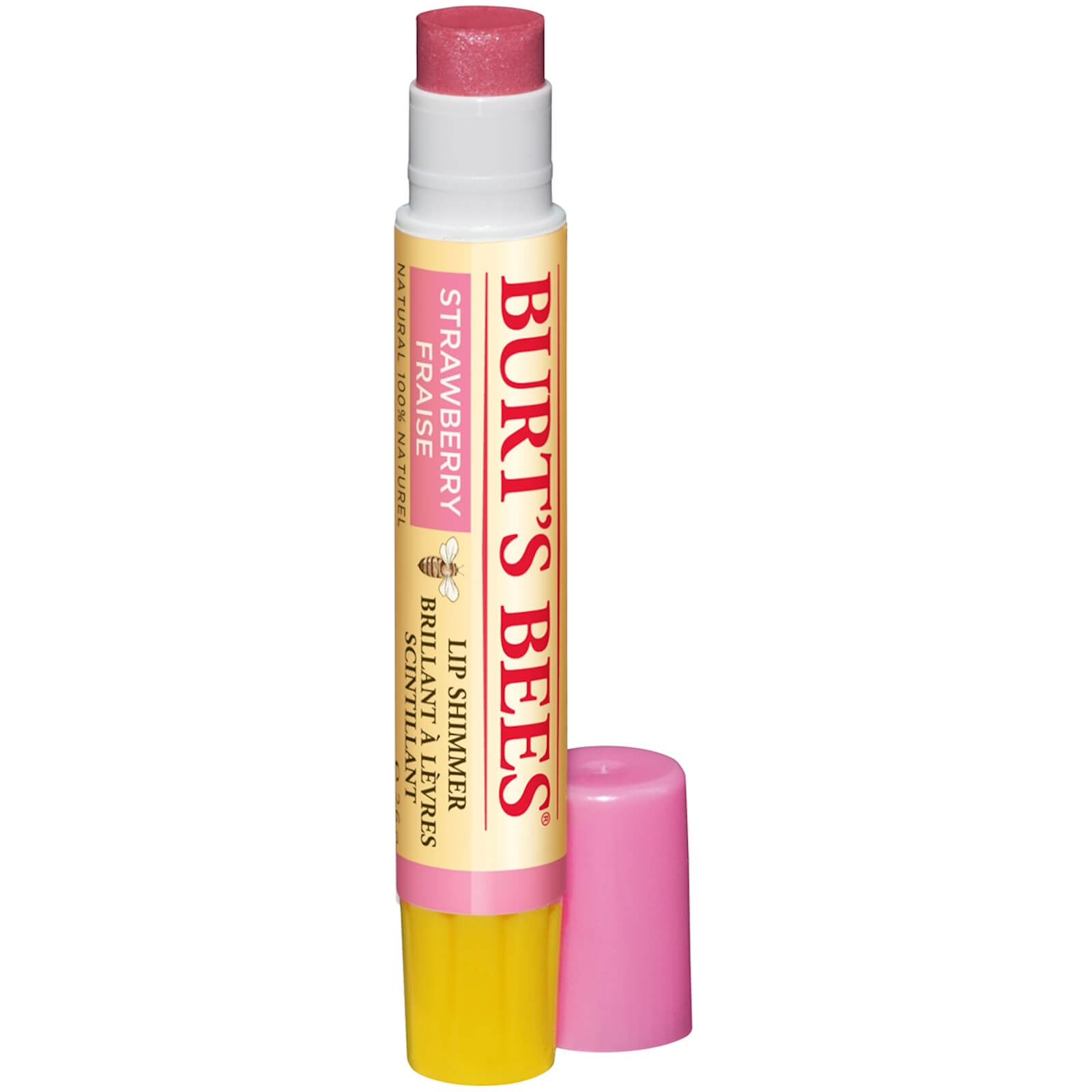 Burt's Bees Lip Shimmer 2.6g (Various Shades) - Strawberry
