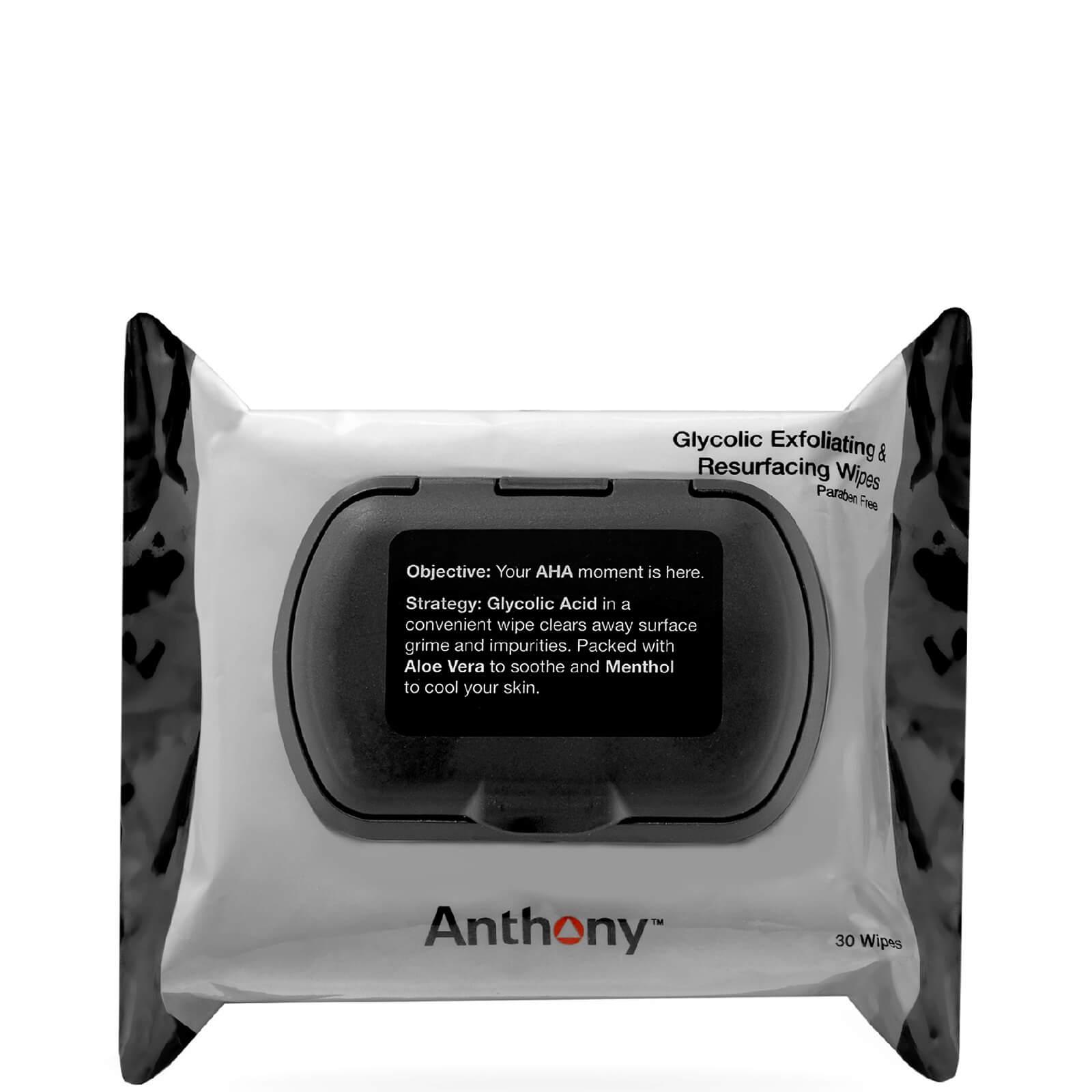 Купить Гликолевыеотшелушивающие и омолаживающие влажные салфетки Anthony