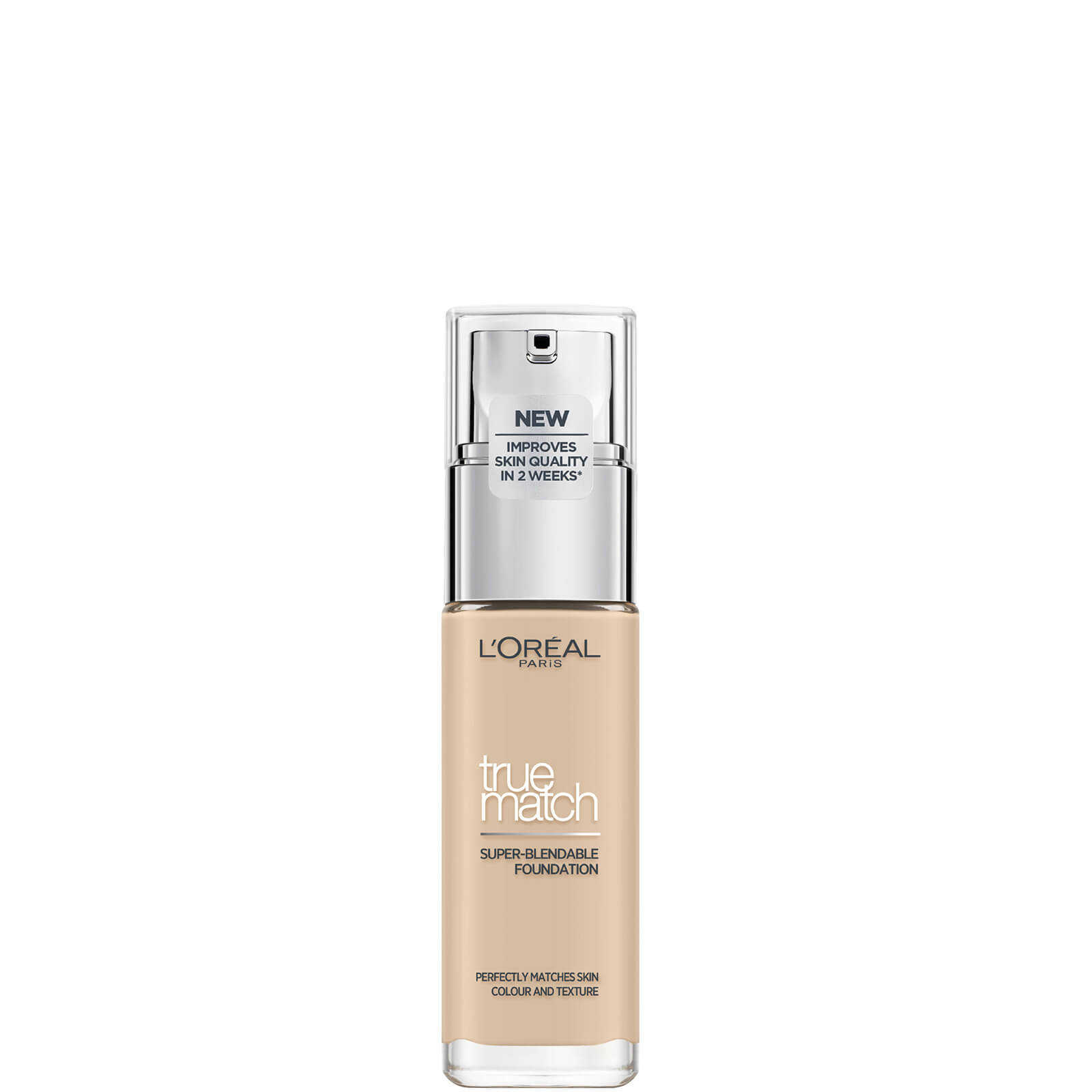 L'Oréal Paris True Match Liquid Foundation with SPF and Hyaluronic Acid 30ml (Various Shades) - Ivory