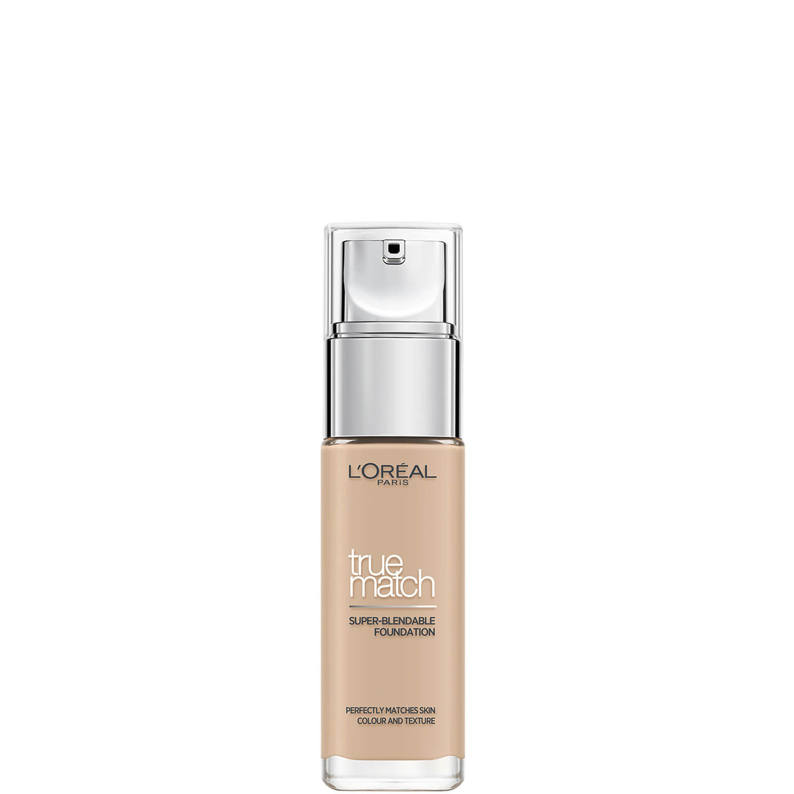 L'Oréal Paris True Match Liquid Foundation with SPF and Hyaluronic Acid 30ml (Various Shades) - Rose Vanilla