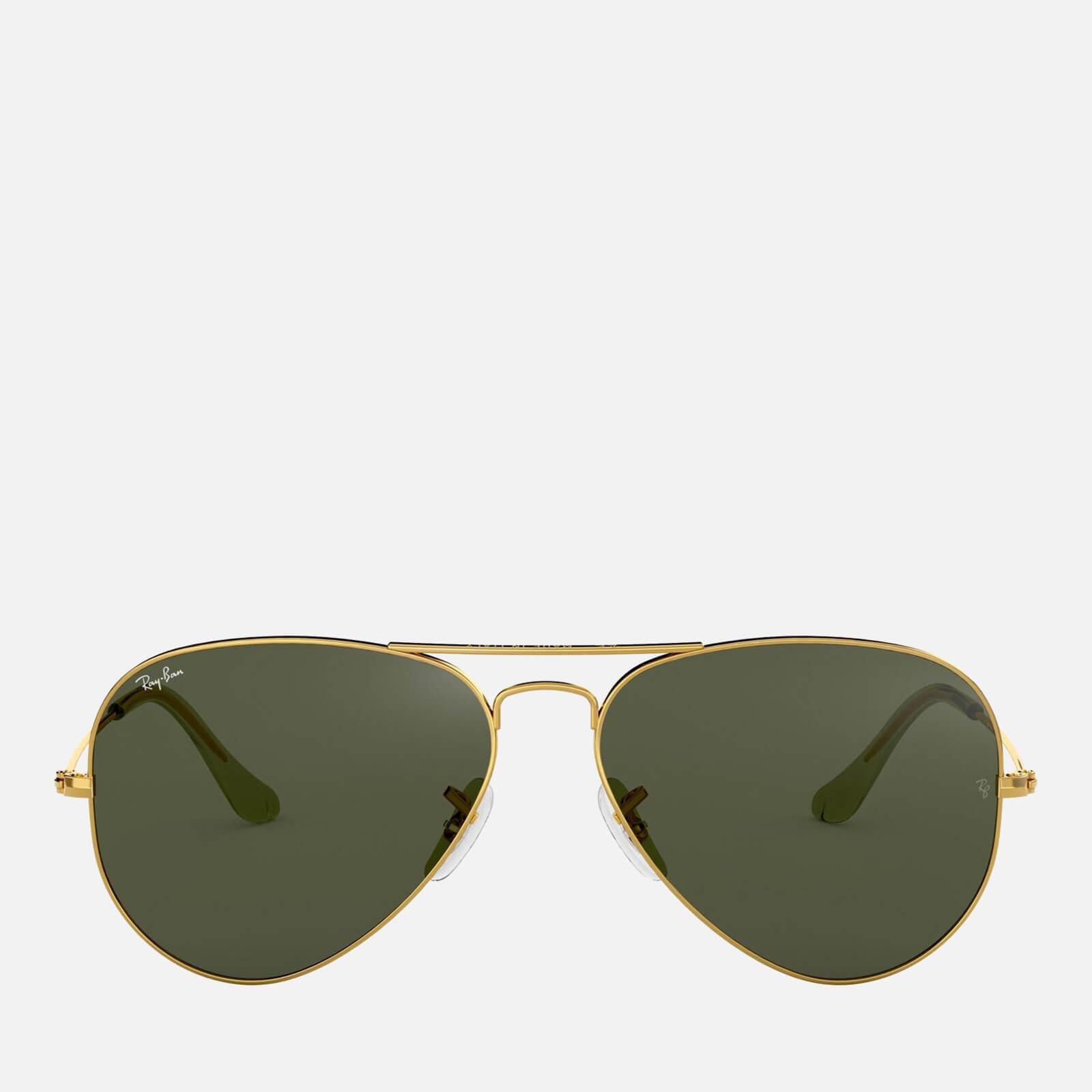 Ray-Ban Women's Metal Aviator Sunglasses - Gold