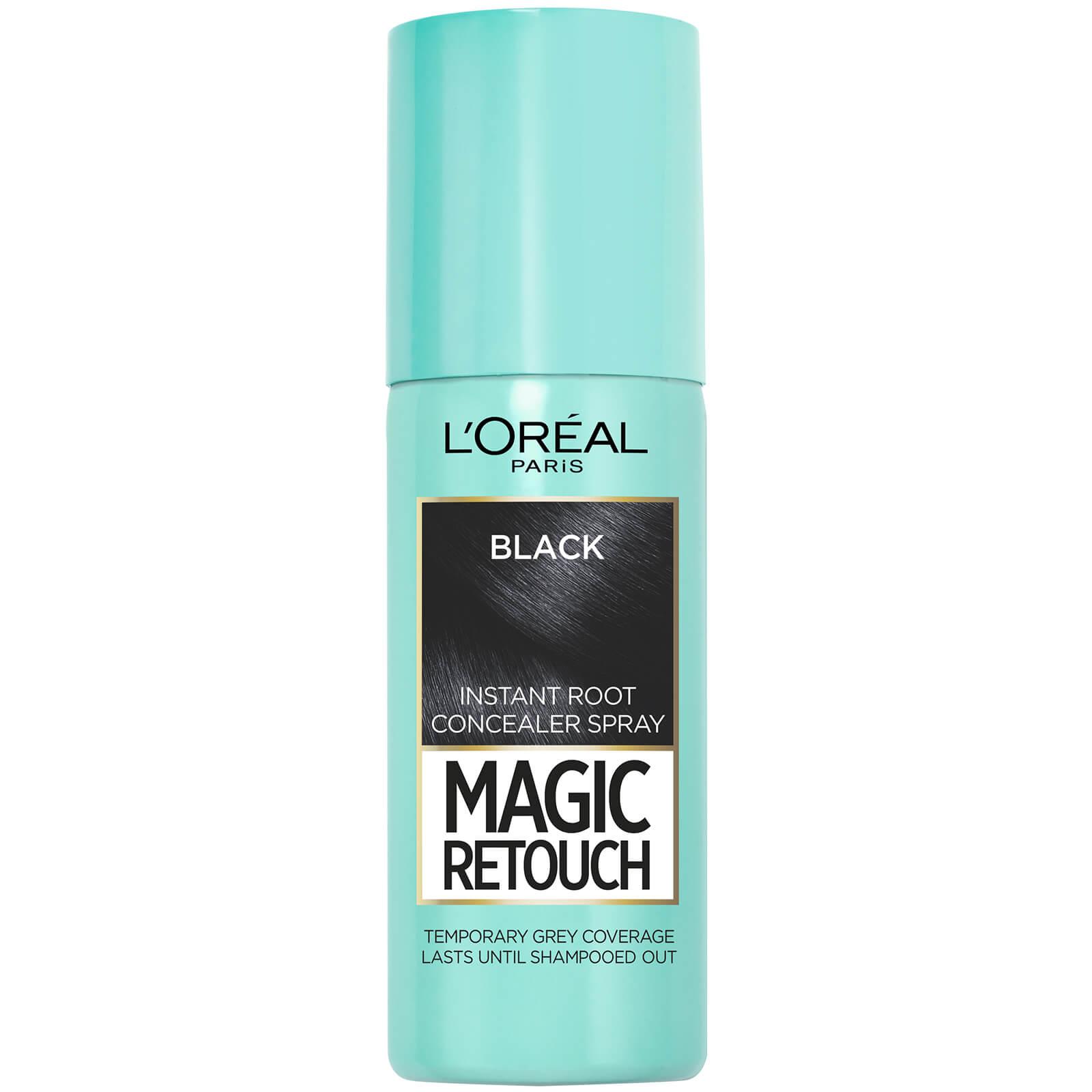 L'Oréal Paris Magic Retouch Temporary Instant Root Concealer Spray 75ml (Various Shades) - Black