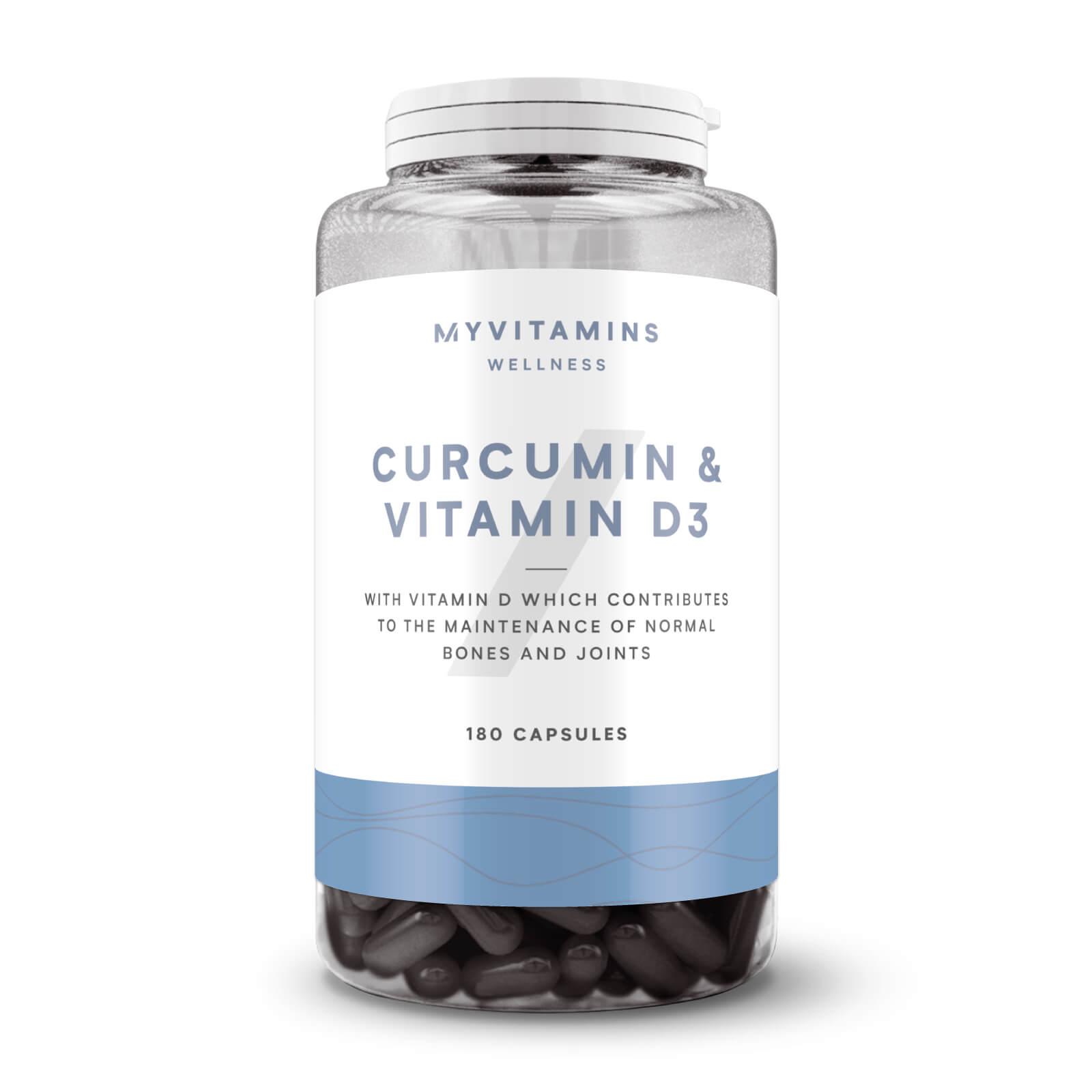 Myvitamins Curcumin & Vitamin D Capsules - 60Capsules