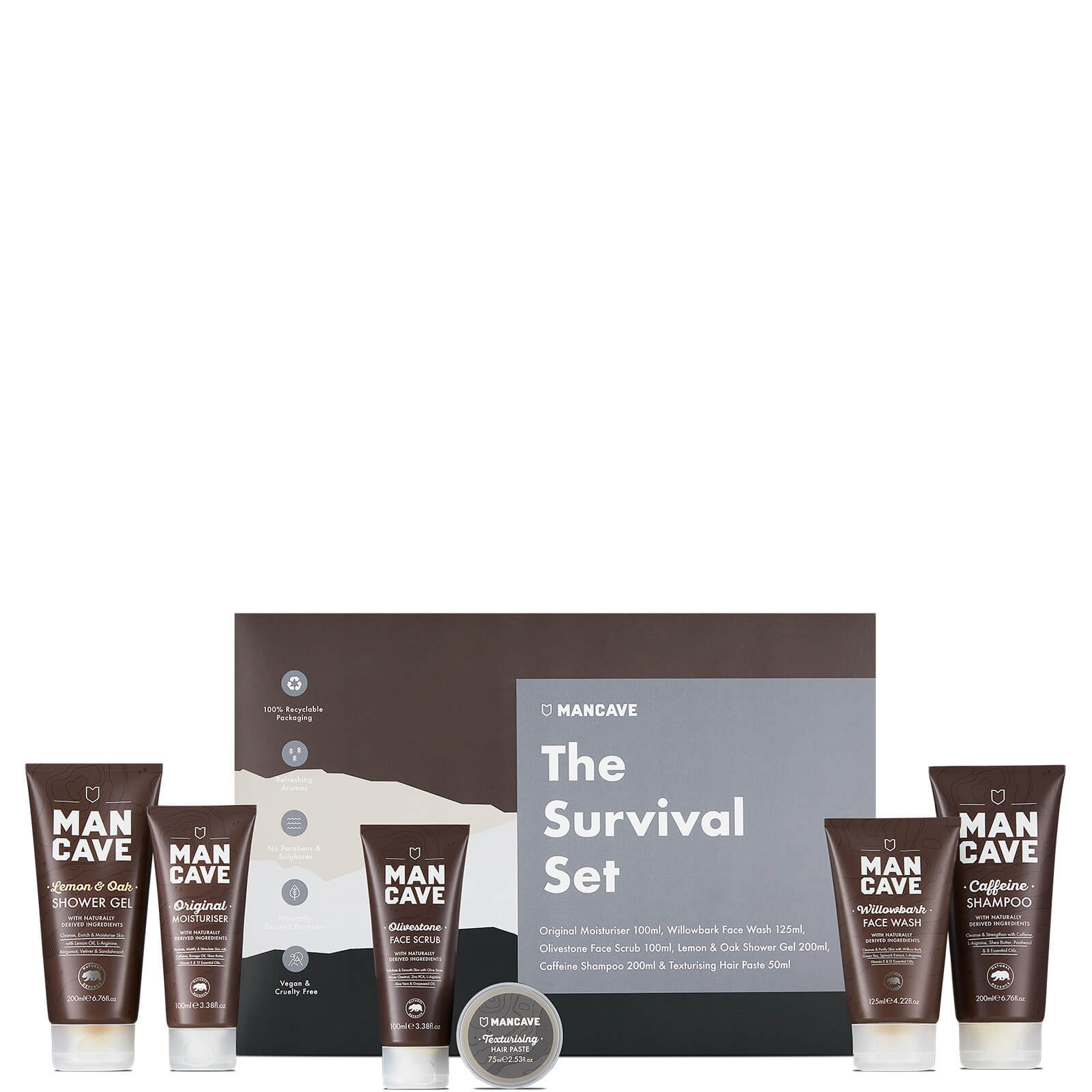 Купить ManCave Survival 6 Part Gift Set