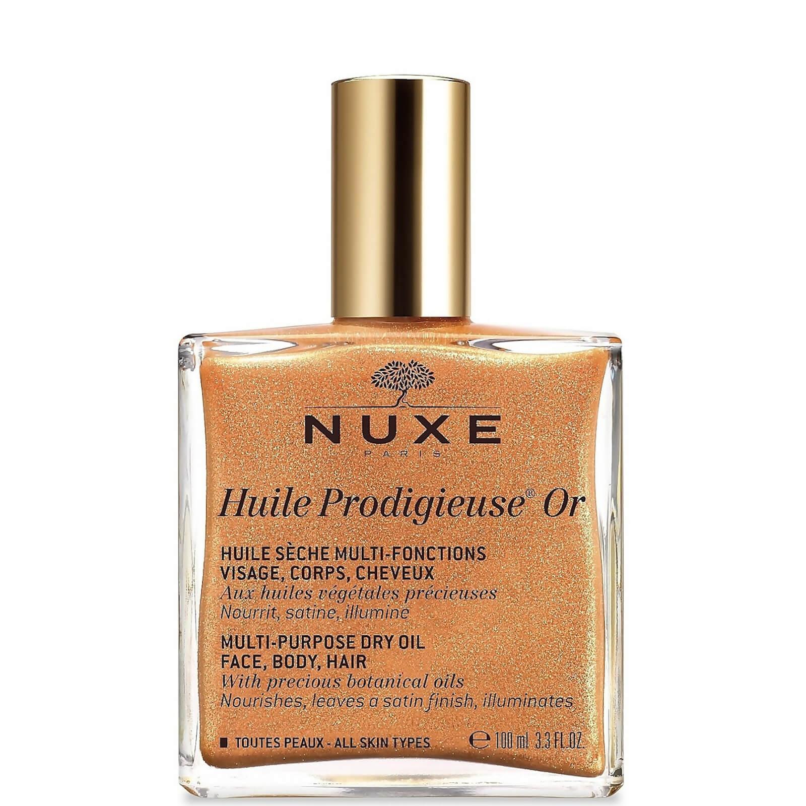 Купить Золотое масло для лица, тела и волос NUXE Huile Prodigieuse Golden Shimmer Multi Usage Dry Oil 100 мл