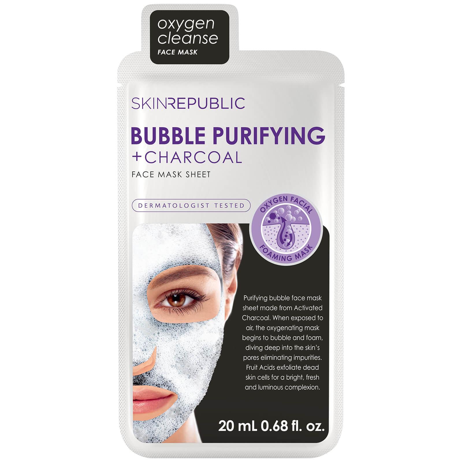 Купить Тканевая маска для лица с древесным углем Skin Republic Bubble Purifying + Charcoal Face Mask
