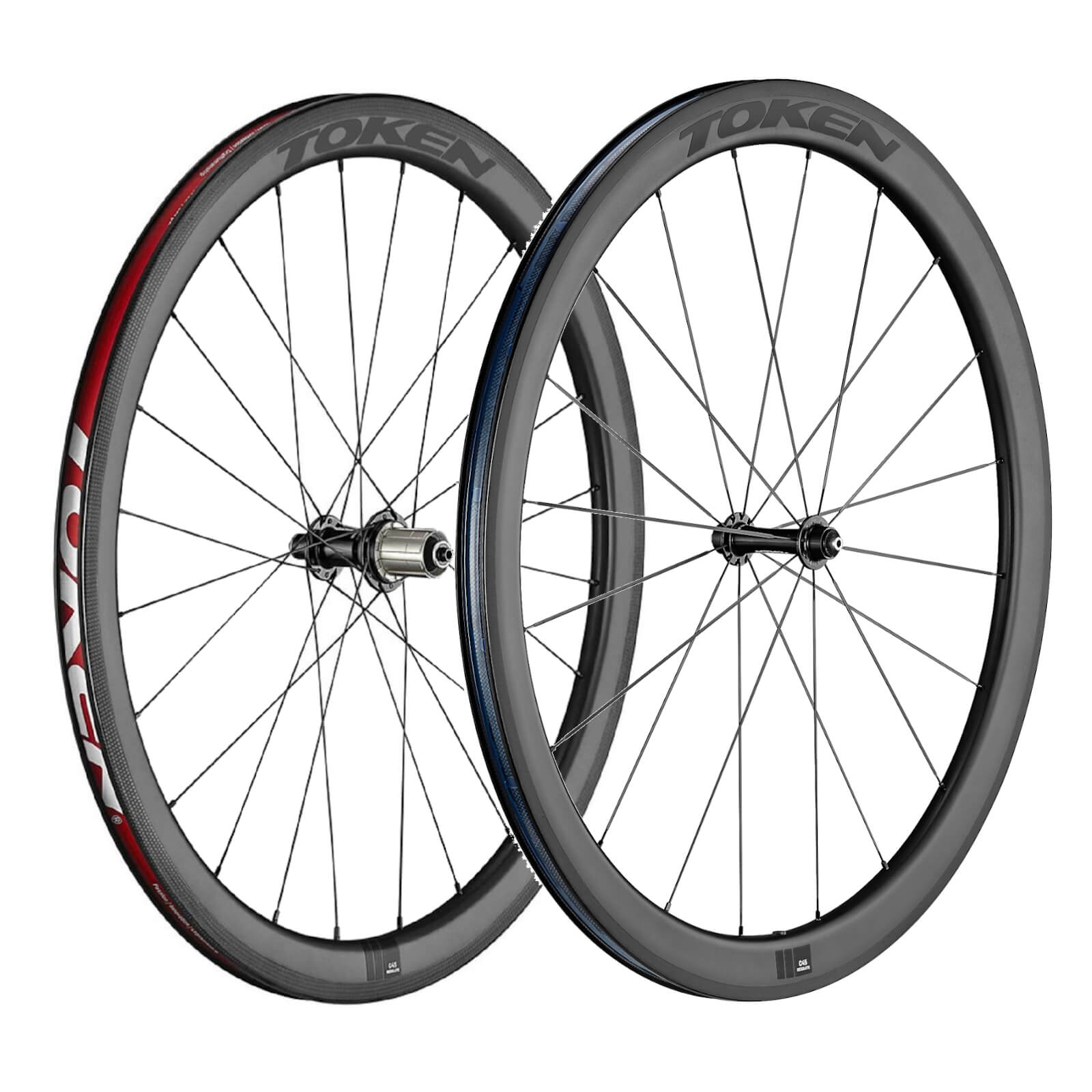 Token C45R Resolute Carbon Tubeless Wheelset - Shimano