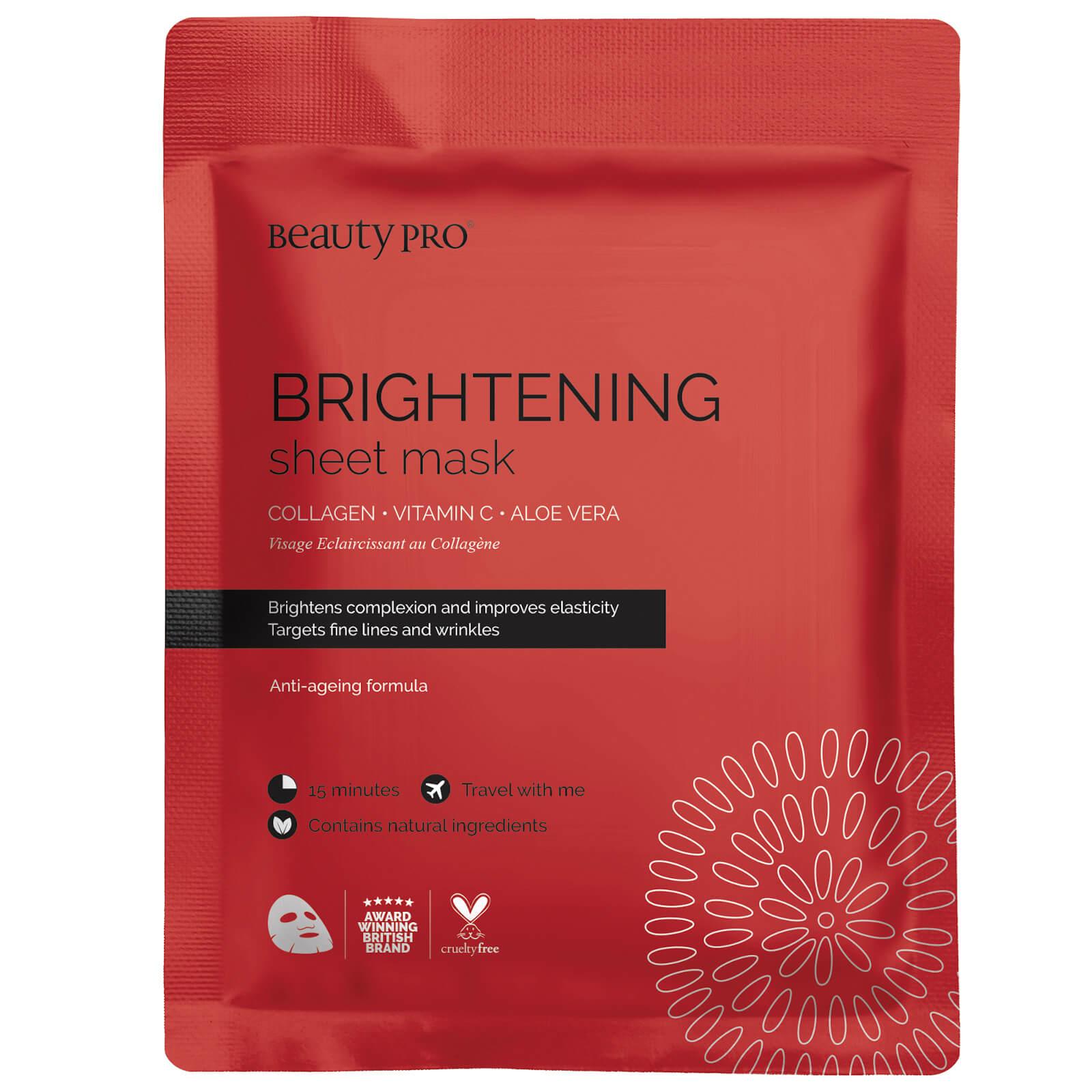 BeautyPro maschera in tessuto illuminante al collagene con vitamina C