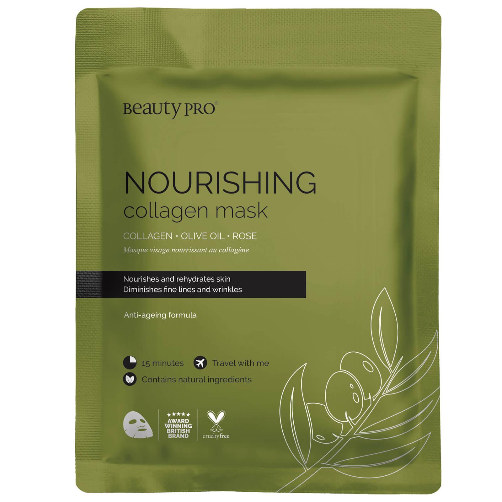 Питательная коллагеновая тканевая маска с экстрактом оливы BeautyPro Nourishing Collagen Sheet Mask with Olive Extract  - Купить