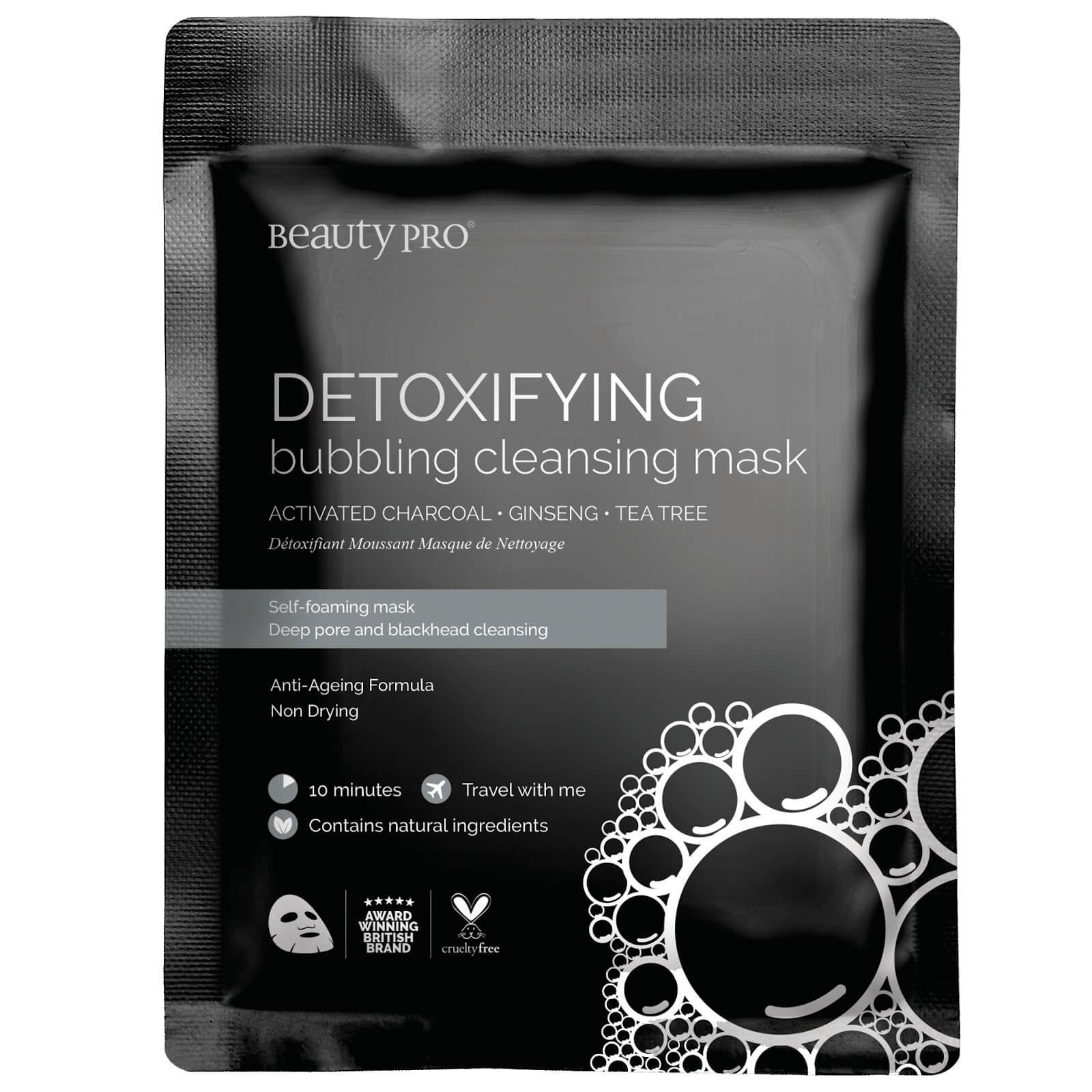 Купить Очищающая тканевая маска с активированным углем BeautyPro Detoxifying Foaming Cleansing Sheet Mask with Activated Charcoal