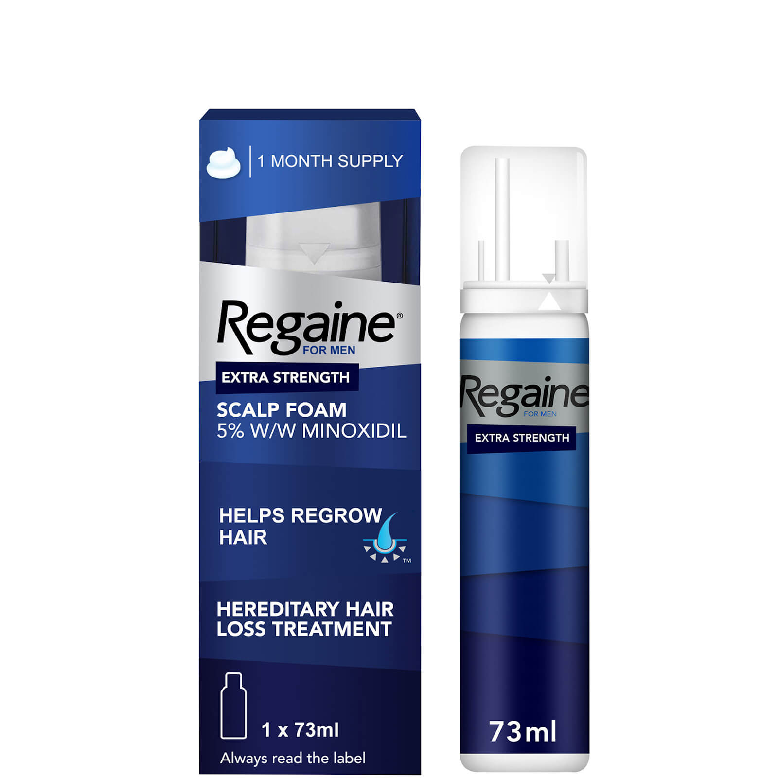 Regaine Men's Extra Strength Hair Loss and Hair Regrowth Scalp Foam Treatment 73ml