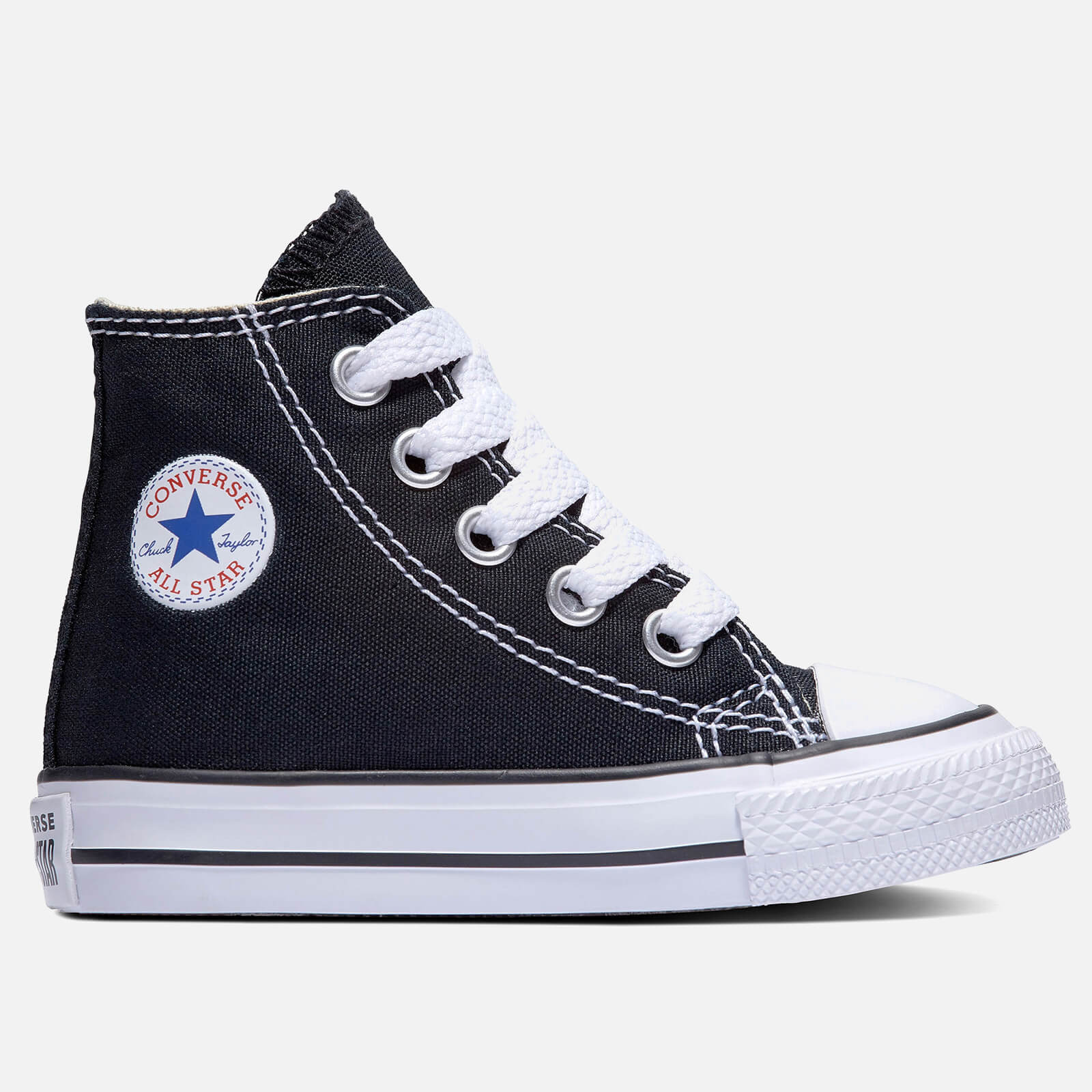 Converse Toddlers Chuck Taylor All Star Hi Top Tainers Black Uk 2 Toddler Black