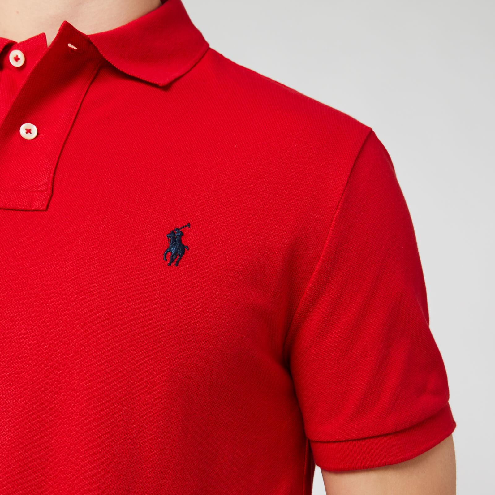 Polo Ralph Lauren Men's Custom Slim Fit Mesh Polo Shirt - Rl2000 Red - Xl 710666998003 Mens Tops, Red