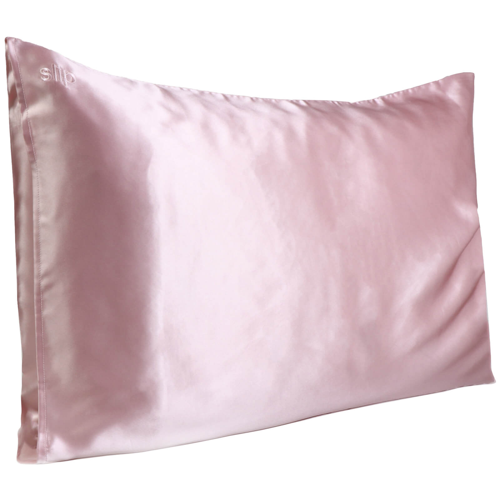 Slip Silk Pillowcase - Queen (Various Colours) - Pink
