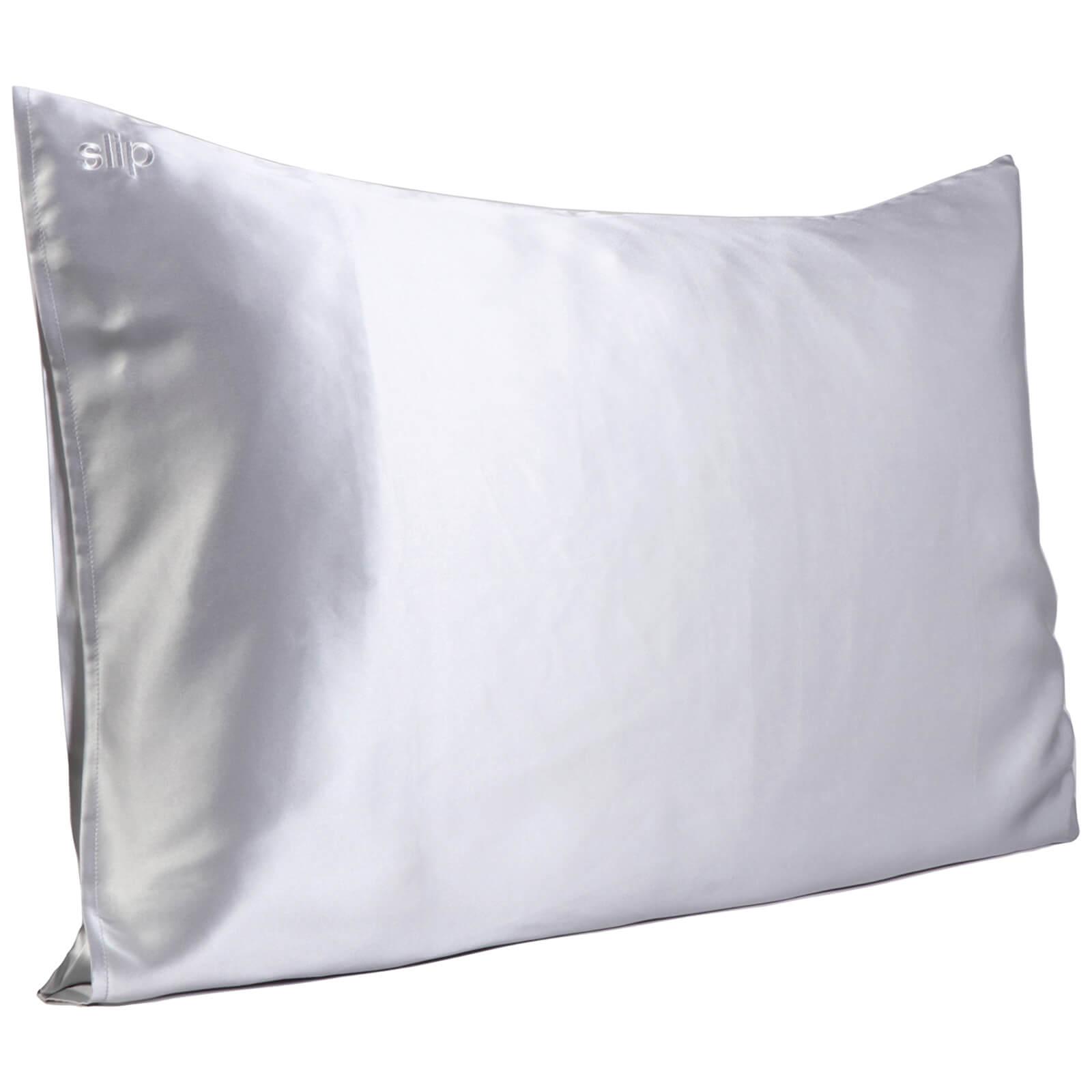 Slip Silk Pillowcase - Queen (Various Colours) - Silver