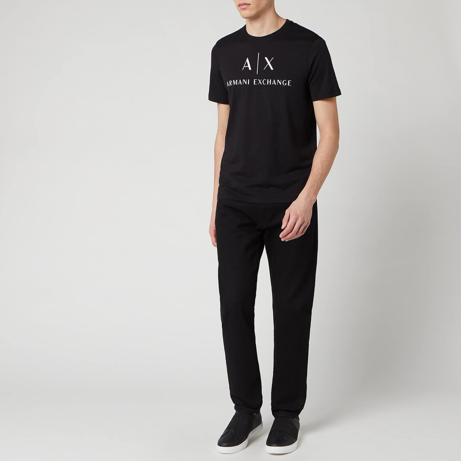 Armani Exchange Men's Script Logo T-Shirt - Black - L