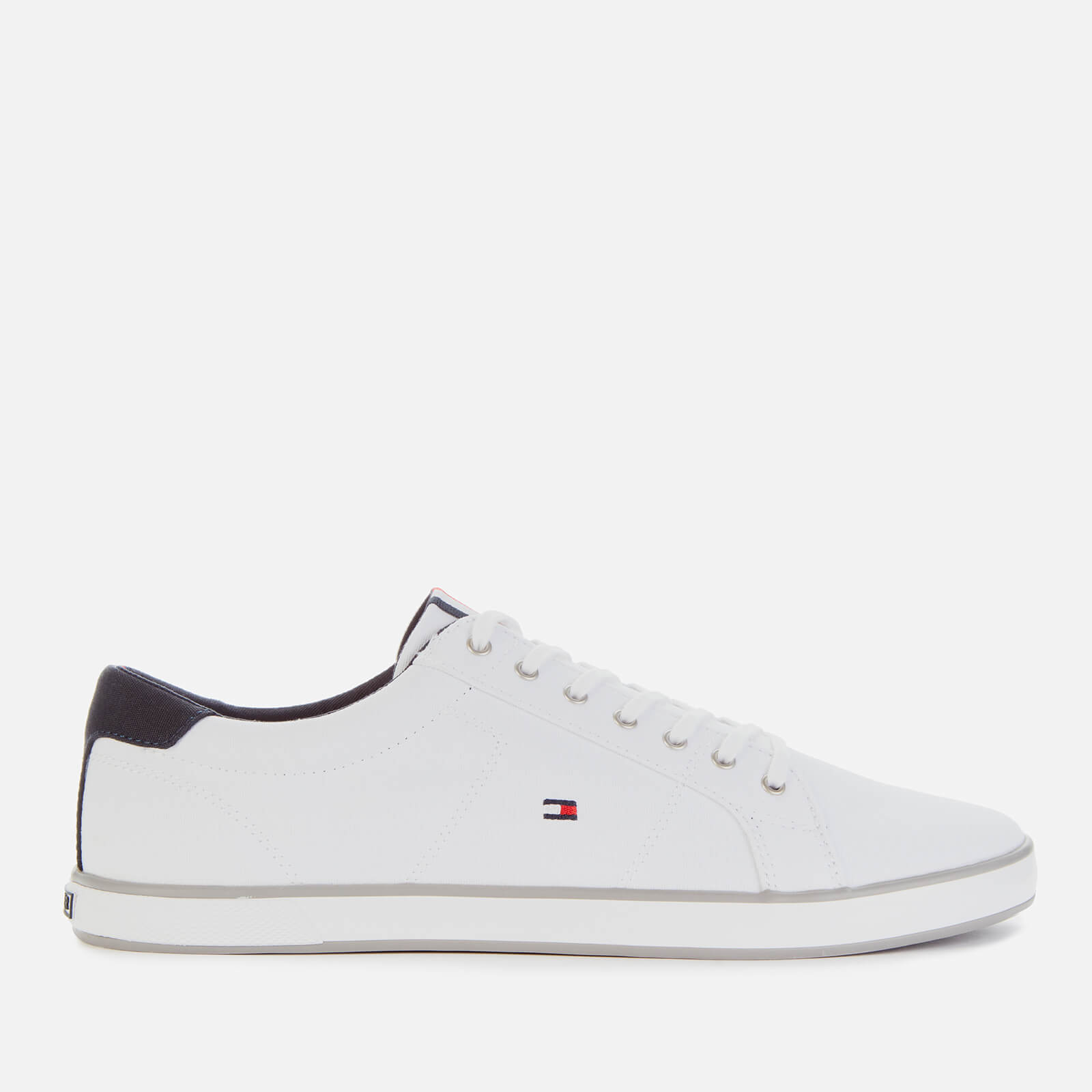 Tommy Hilfiger Mens Harlow Canvas Pumps White Uk 8