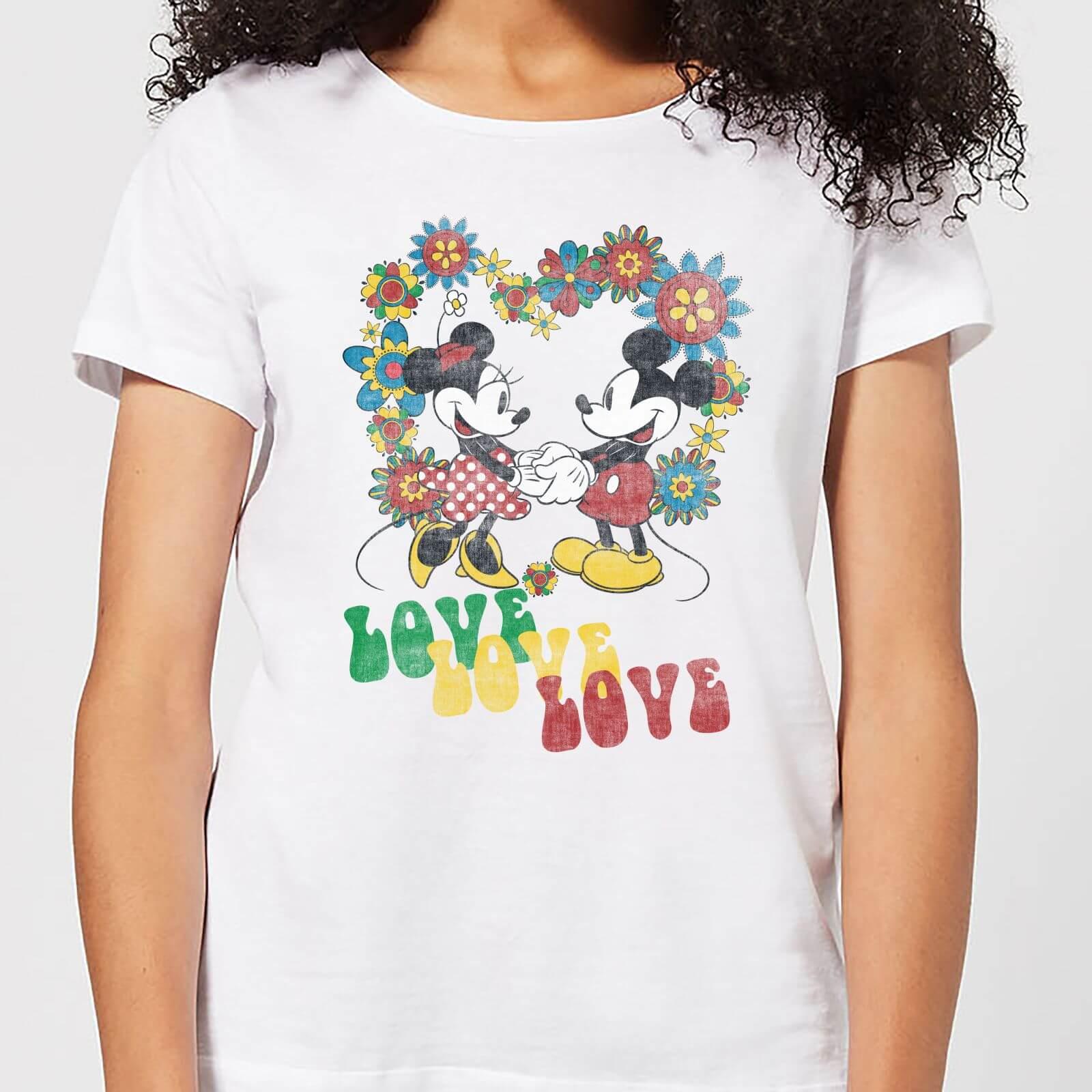 Disney Men/'s Mickey et Minnie Mouse Hippie Love Sweat