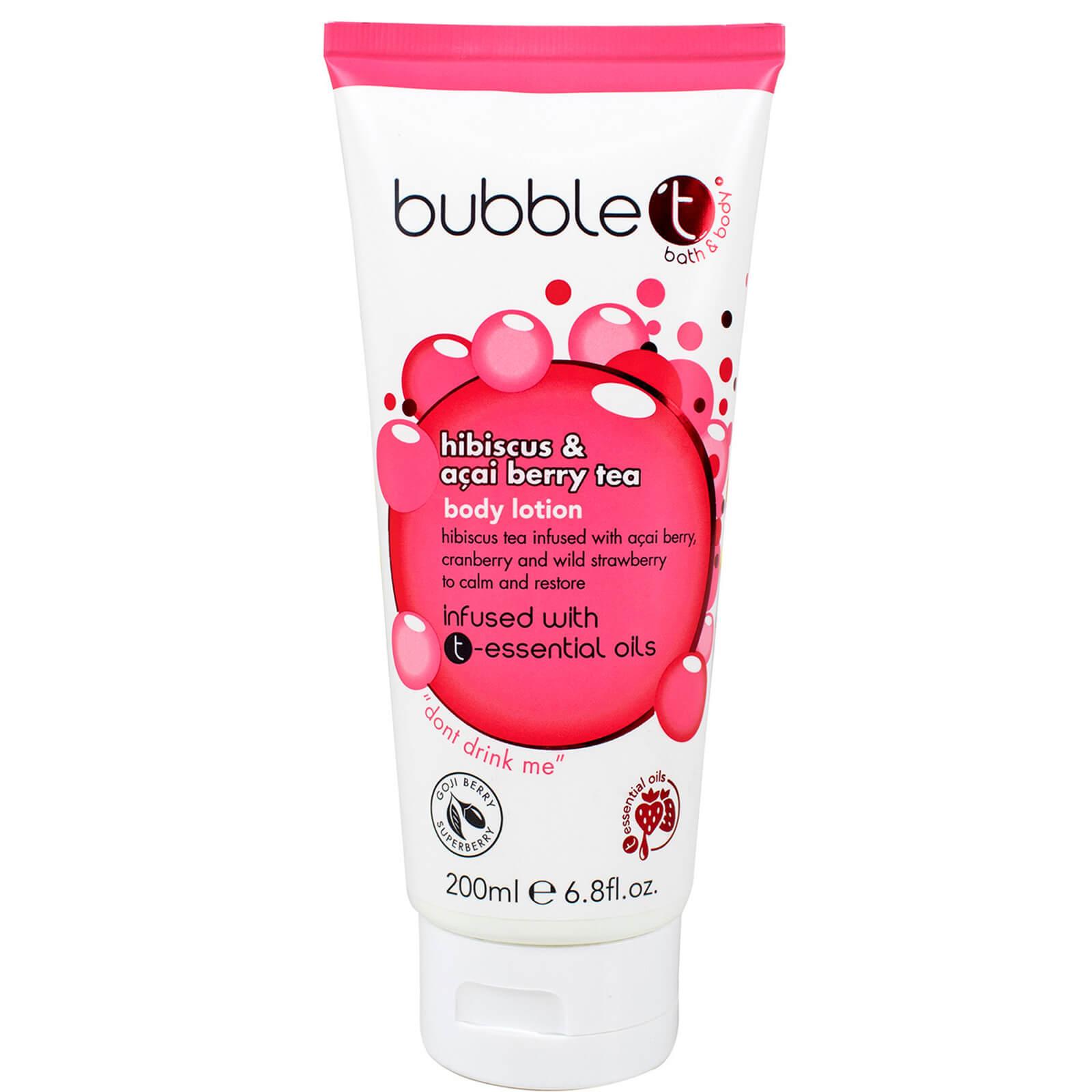 Купить Лосьон для тела с ароматом чая из гибискуса и ягод асаи Bubble T Hibiscus and Acai Berry Tea Body Lotion (200мл)