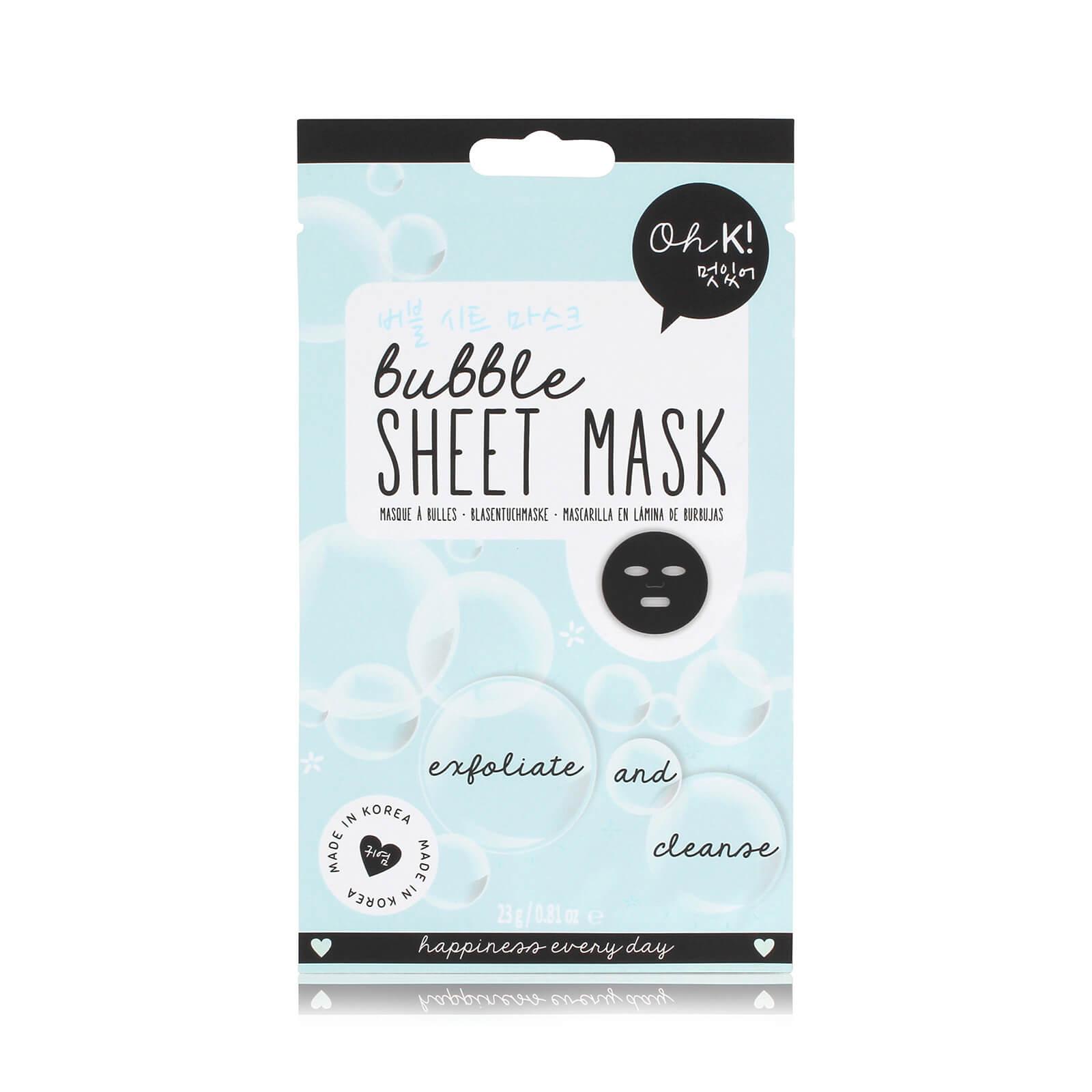 oh k! sheet mask - bubble 23ml
