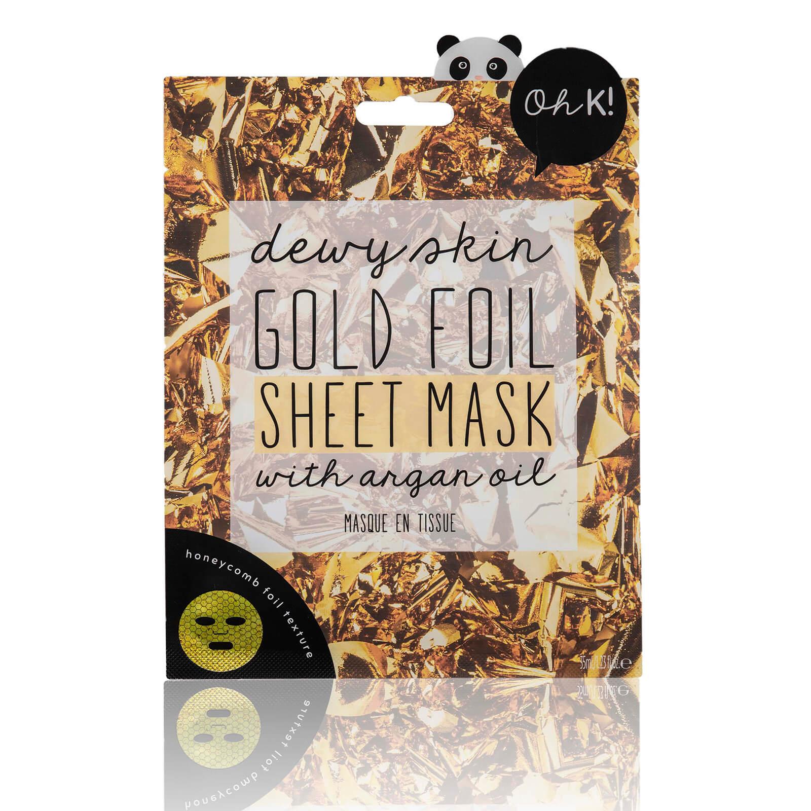 Купить Волокнистая тканевая маска с экстрактом золота Oh K! Gold Foil Sheet Mask 24 мл