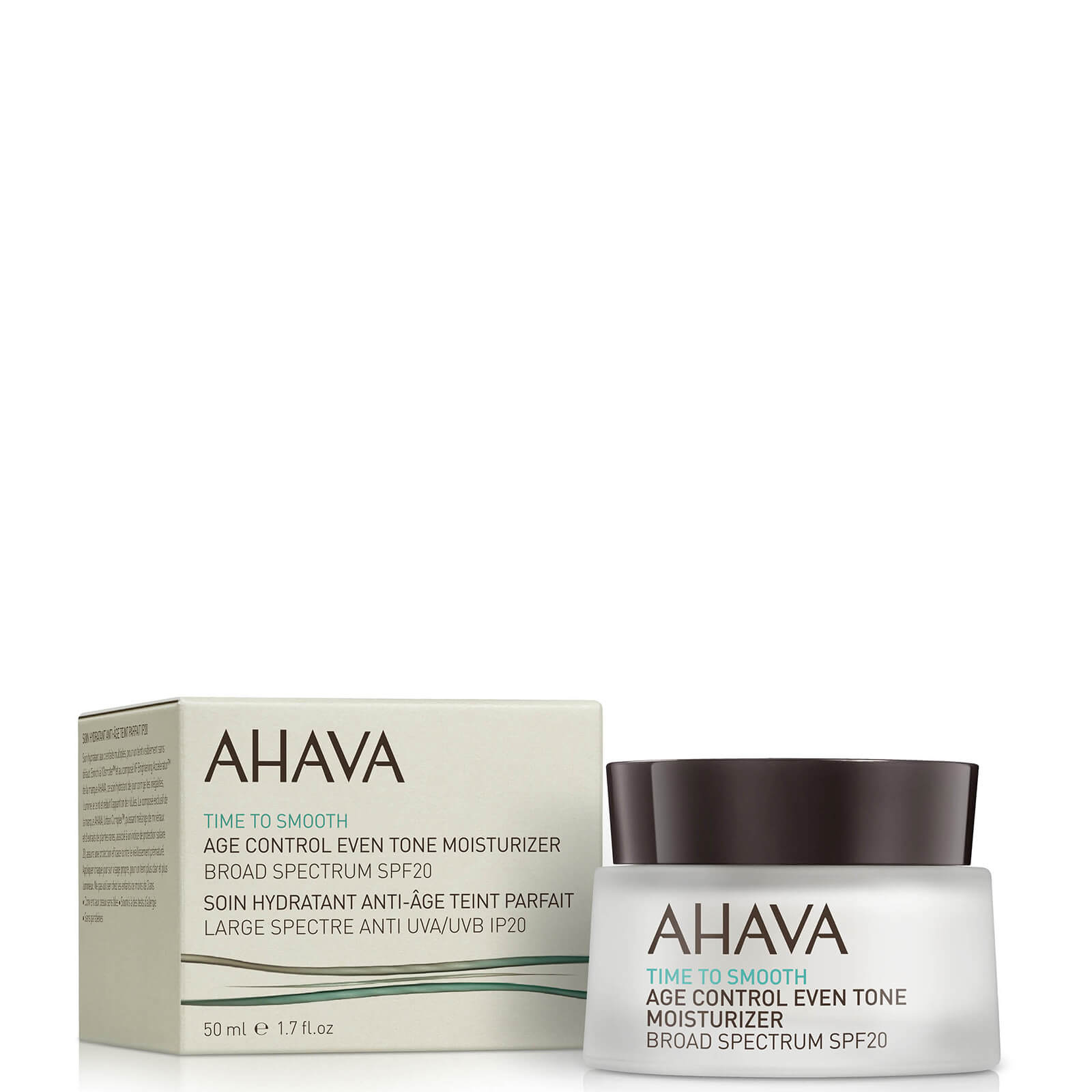 Купить Антивозрастной, увлажняющий крем с солнцезащитным фактором SPF 20 AHAVA Age Control Even Tone Moisturizer SPF 20 50 мл
