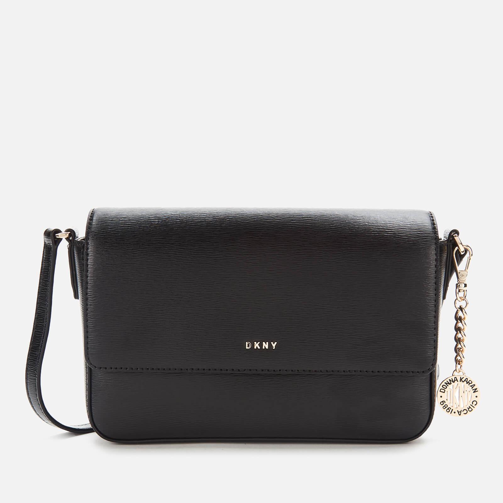 DKNY Women's Bryant Medium Flap Sutton Cross Body Bag - Black