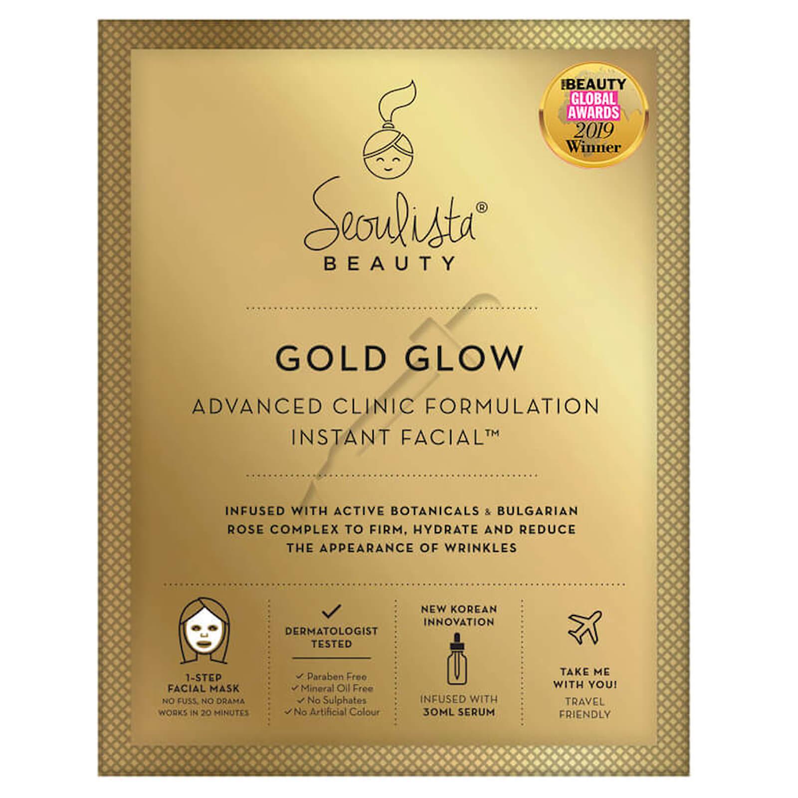 Купить Листовая экспресс-маска против морщин Seoulista Beauty Gold Glow Instant Facial