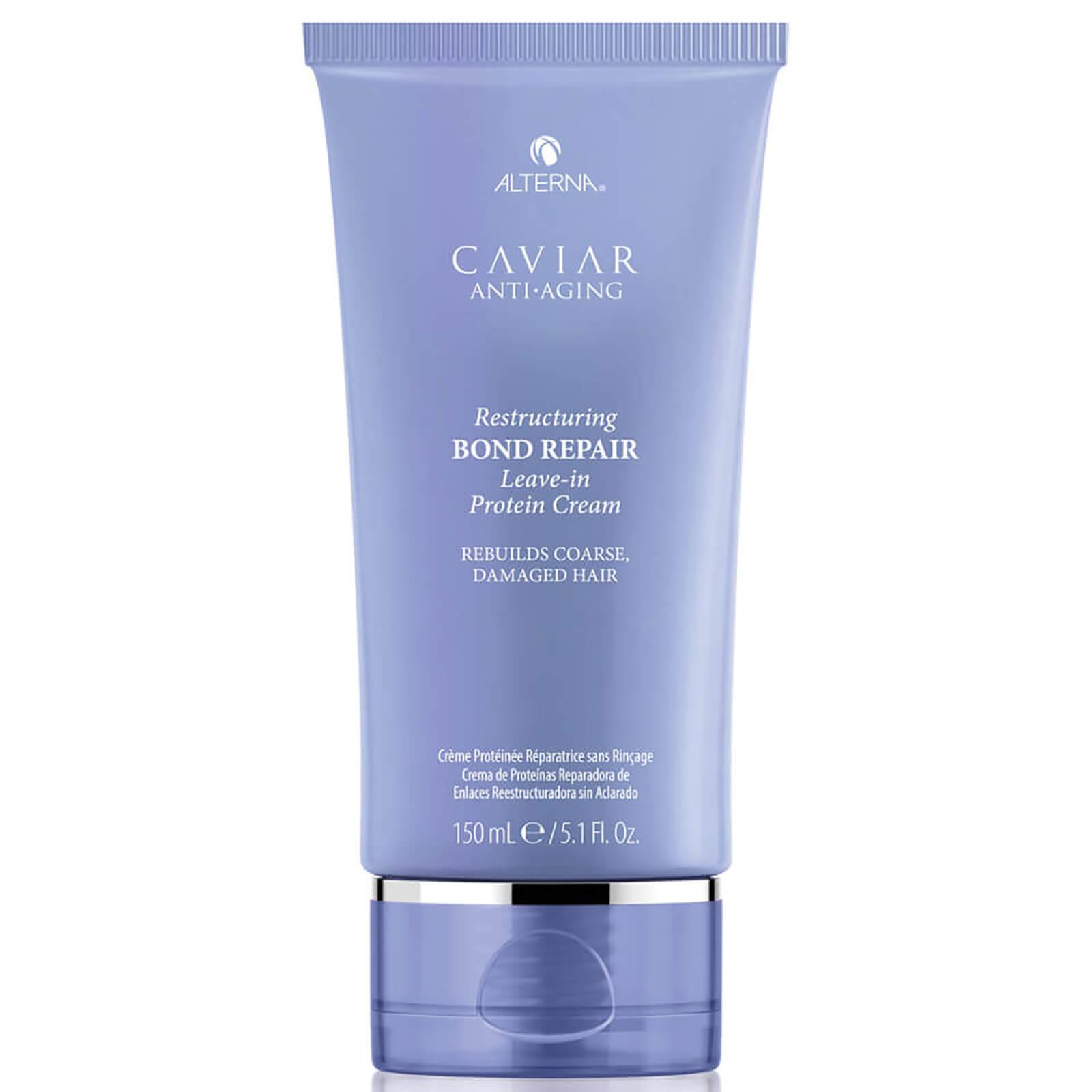 Alterna Caviar Anti-aging Restructuring Bond Repair Leave-in Protein Cream (5.1 Oz.) In Blue