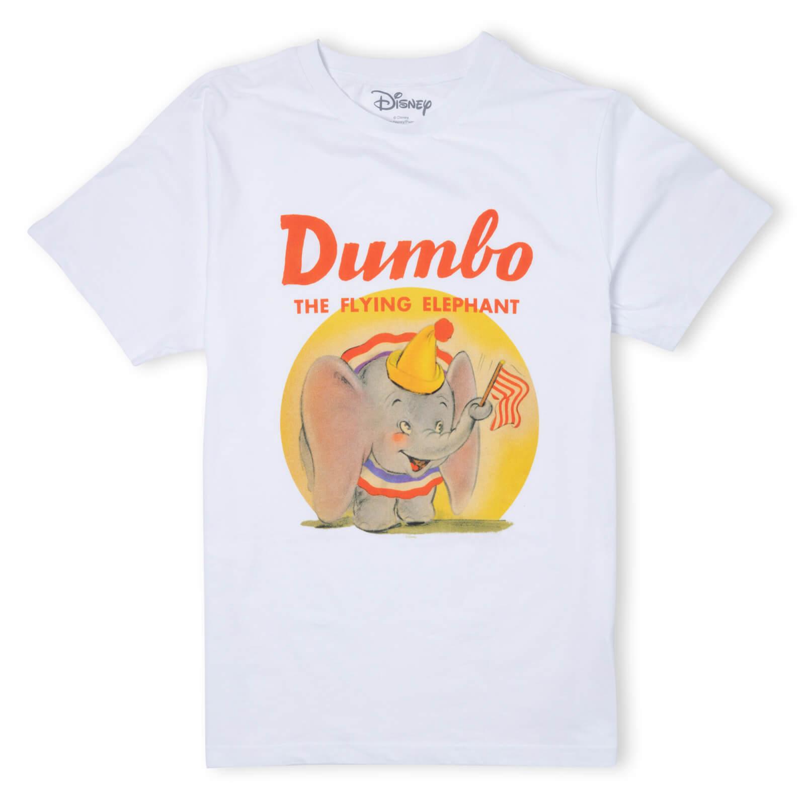 Image of Disney Dumbo Flying Elephant T-Shirt - White - 3XL - White