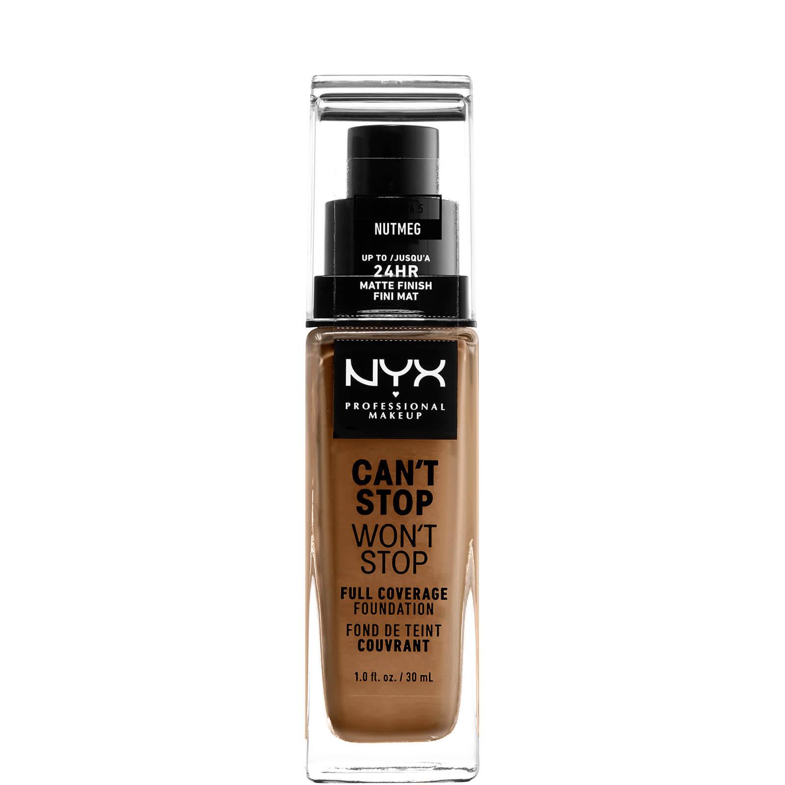 Купить Тональная основа NYX Professional Makeup Can't Stop Won't Stop 24 Hour Foundation (различные оттенки) - Nutmeg
