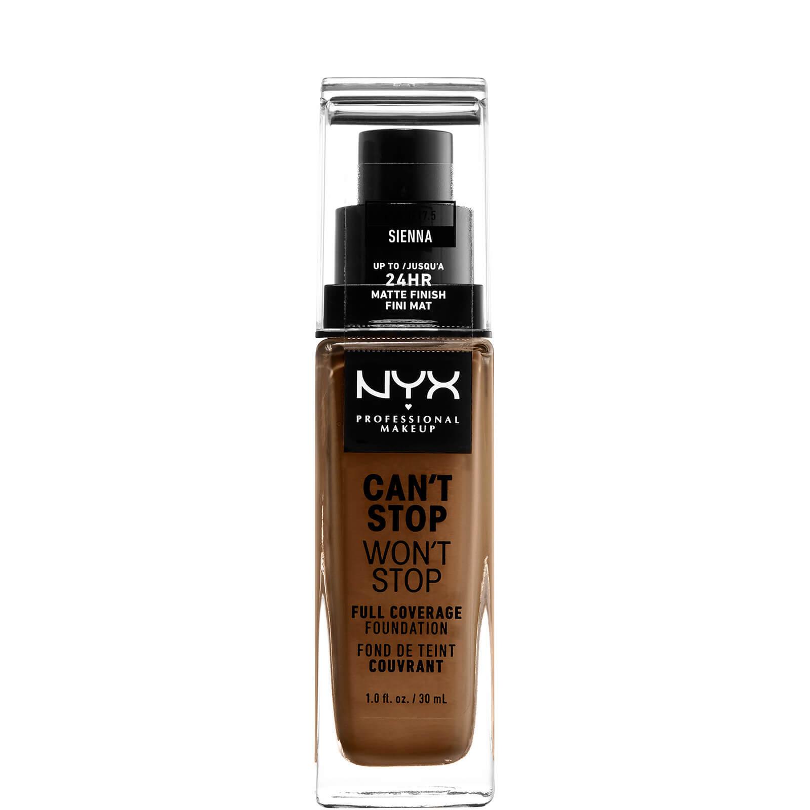 Купить Тональная основа NYX Professional Makeup Can't Stop Won't Stop 24 Hour Foundation (различные оттенки) - Sienna