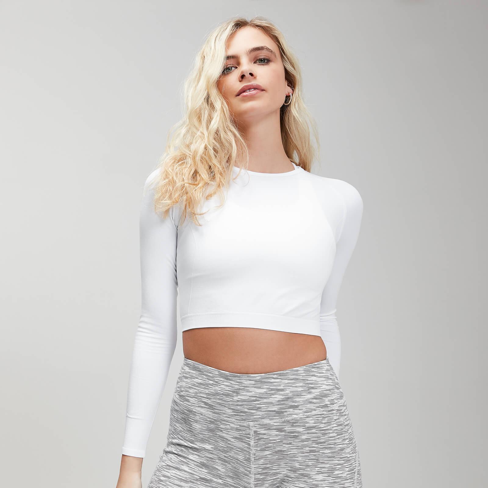 Crop top sans coutures à manches longues MP Shape Seamless Ultra pour femmes – Blanc - XXL
