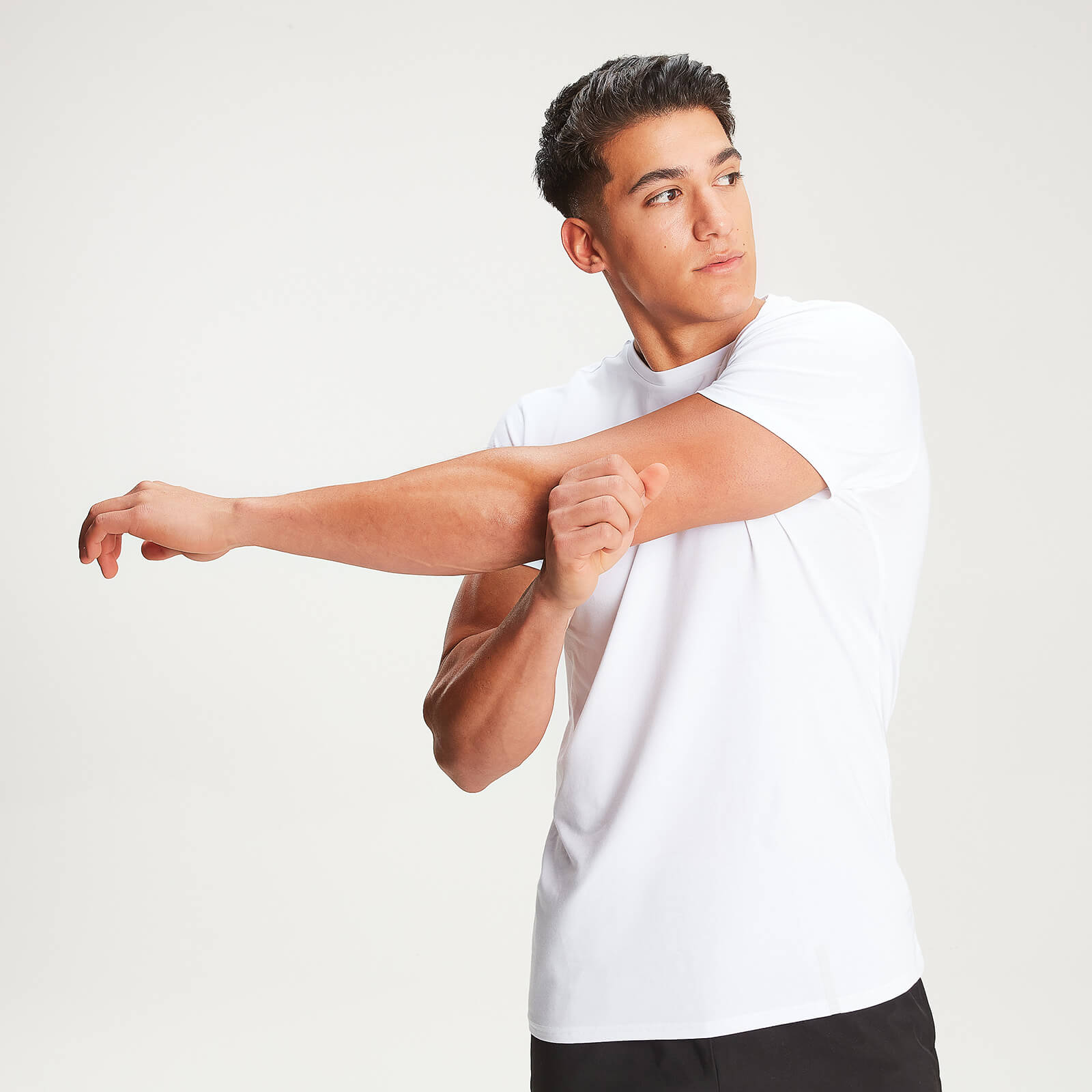 T-shirt à col ras du cou MP Luxe Classic – Blanc - S