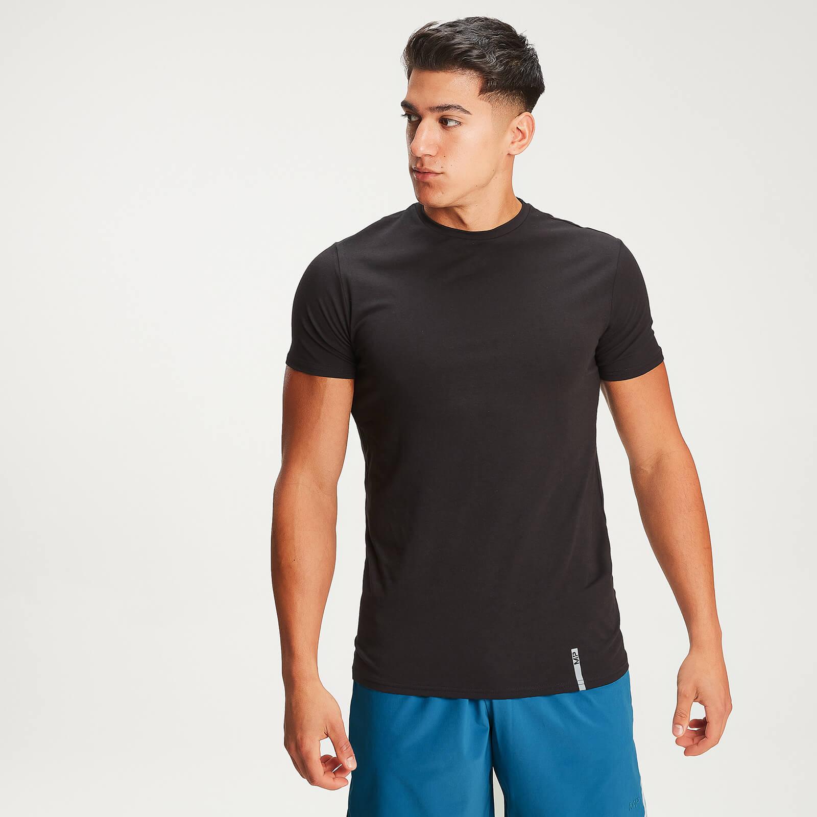 T-shirt à col ras du cou MP Luxe Classic pour hommes – Noir - S
