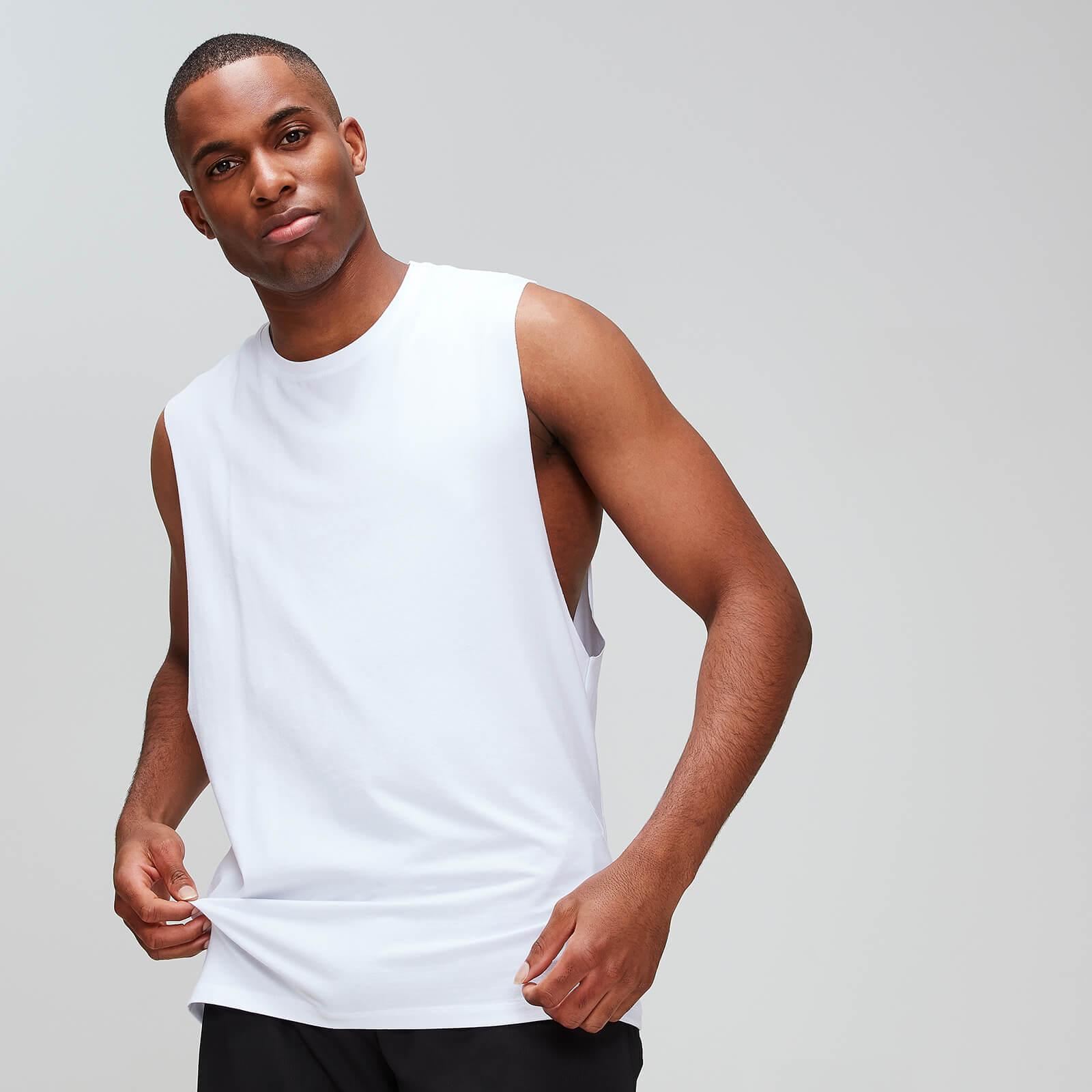 Débardeur à emmanchures échancrées MP Luxe Classic pour hommes – Blanc - S