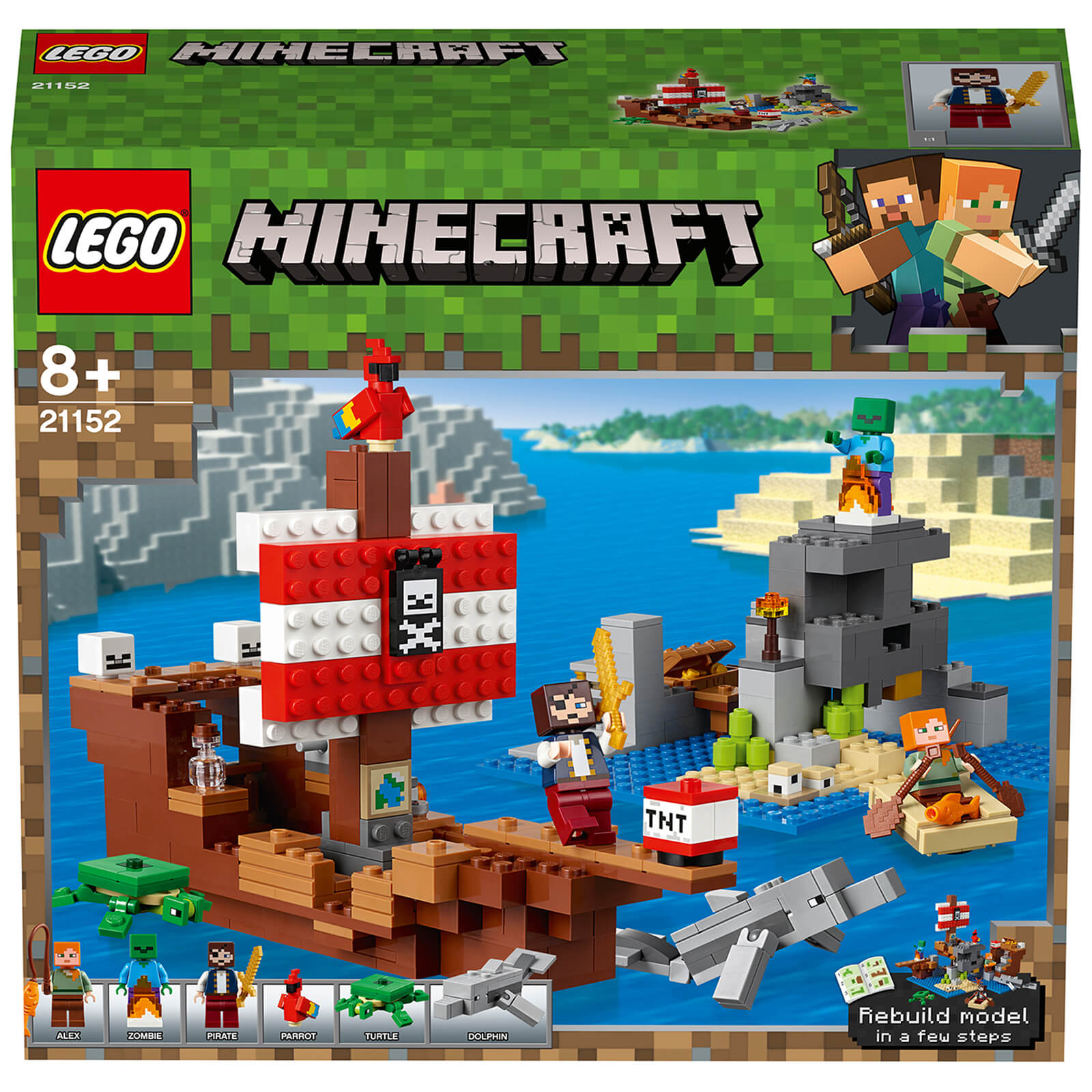 Image of 21152 LEGO® MINECRAFT The Pirate Ship Adventure
