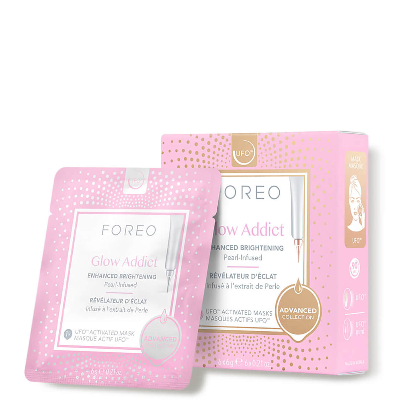 Watch a story about FOREO GLOW ADDICT UFO/UFO MINI BRIGHTENING FACE MASK (6 PACK)