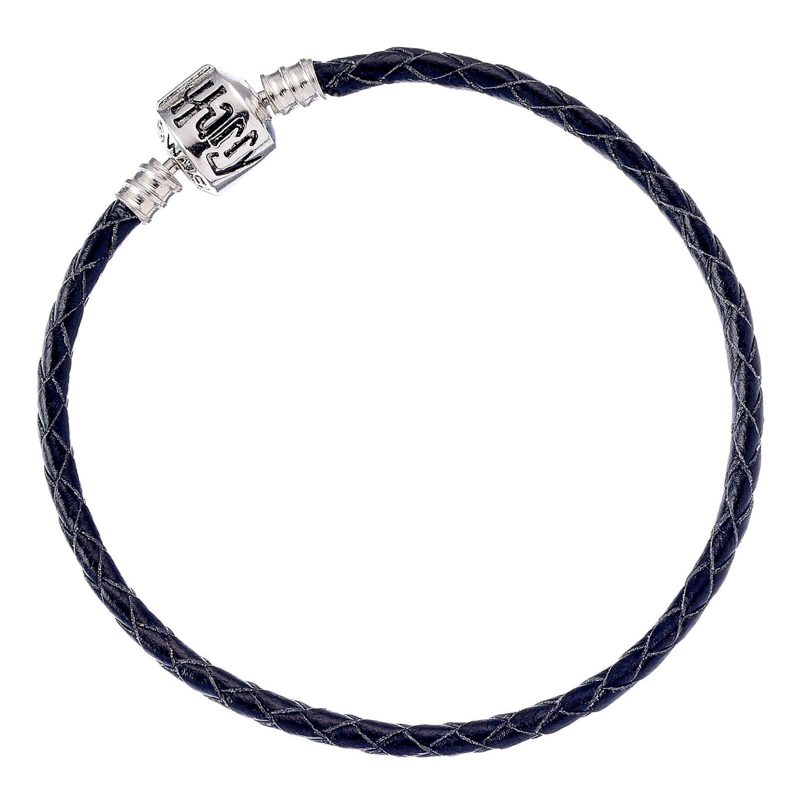 Harry Potter Black Leather Charm Bracelet (Various Sizes) - 18cm
