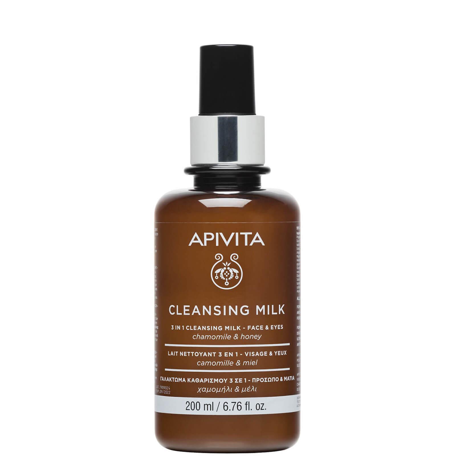 Купить Очищающее молочко для лица и век APIVITA 3 in 1 Cleansing Milk for Face & Eyes 200 мл