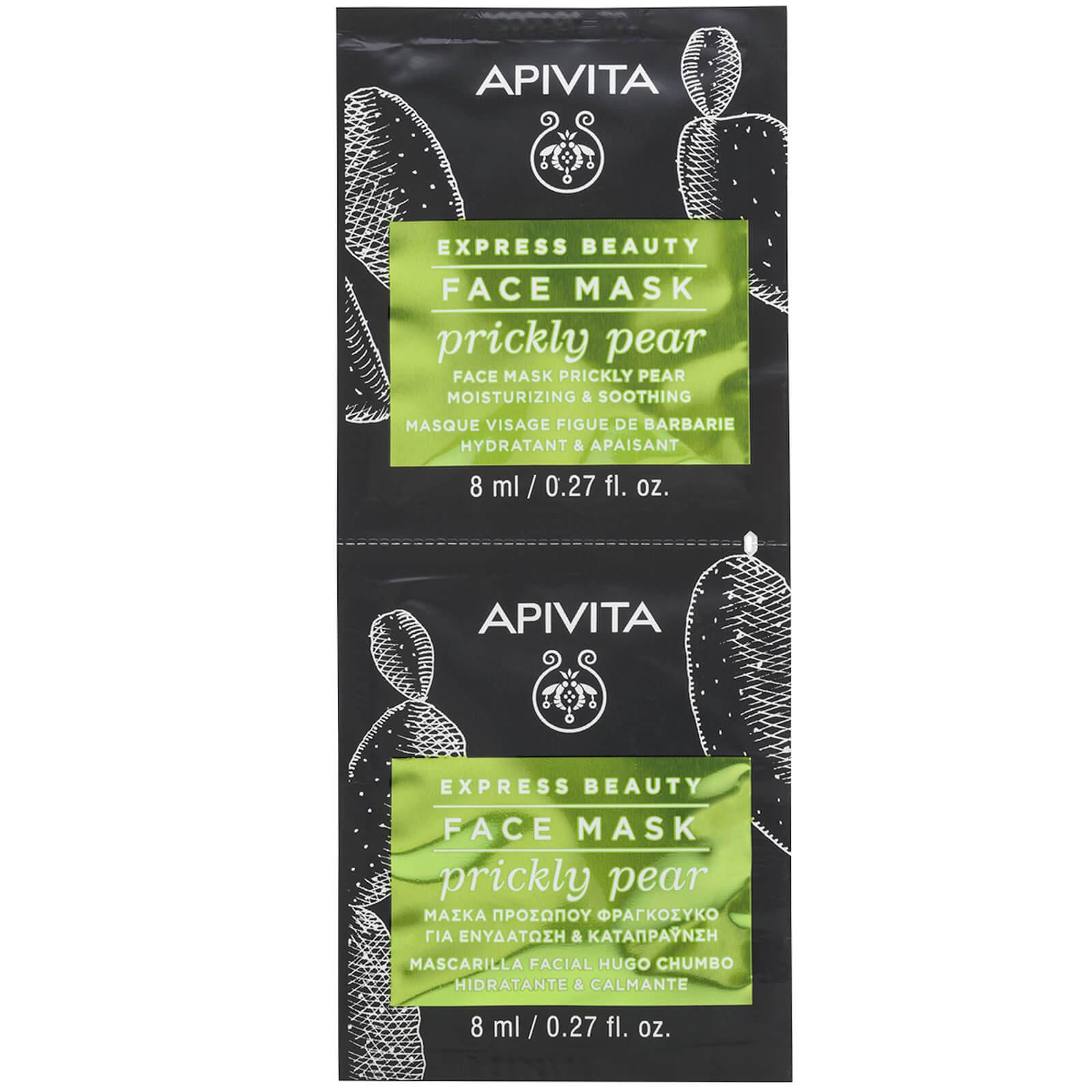 Купить Увлажняющая и смягчающая маска для лица APIVITA Express Moisturizing & Soothing Face Mask — Prickly Pear 2x8 мл