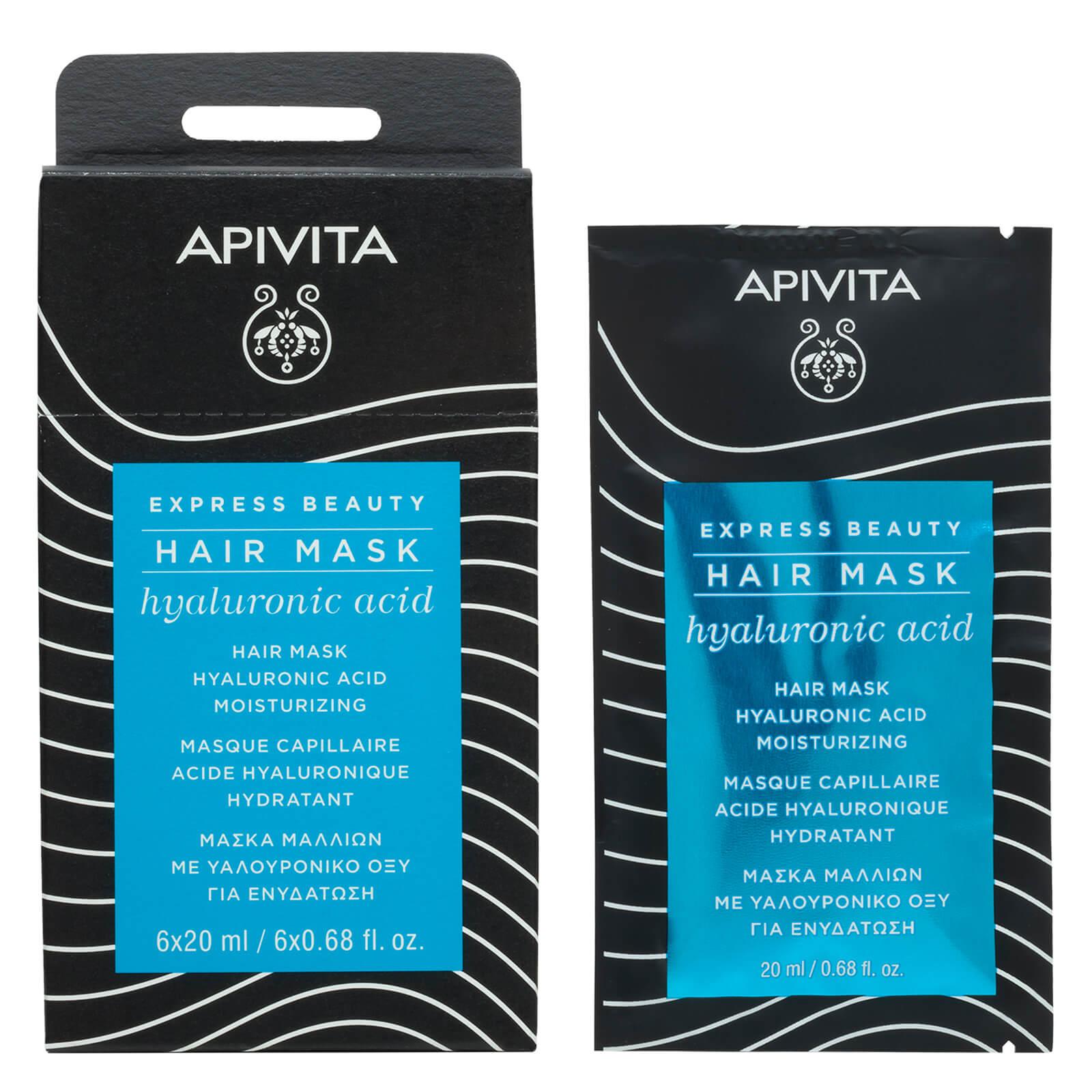 Увлажняющая маска с гиалуроновой кислотой APIVITA Express Moisturizing Hair Mask — Hyaluronic Acid 20 мл  - Купить