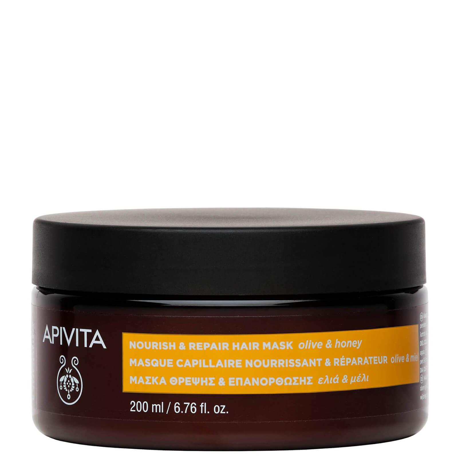 Купить Питательная восстанавливающая маска для волос APIVITA Holistic Hair Care Nourish & Repair Hair Mask - Olive & Honey 200 мл