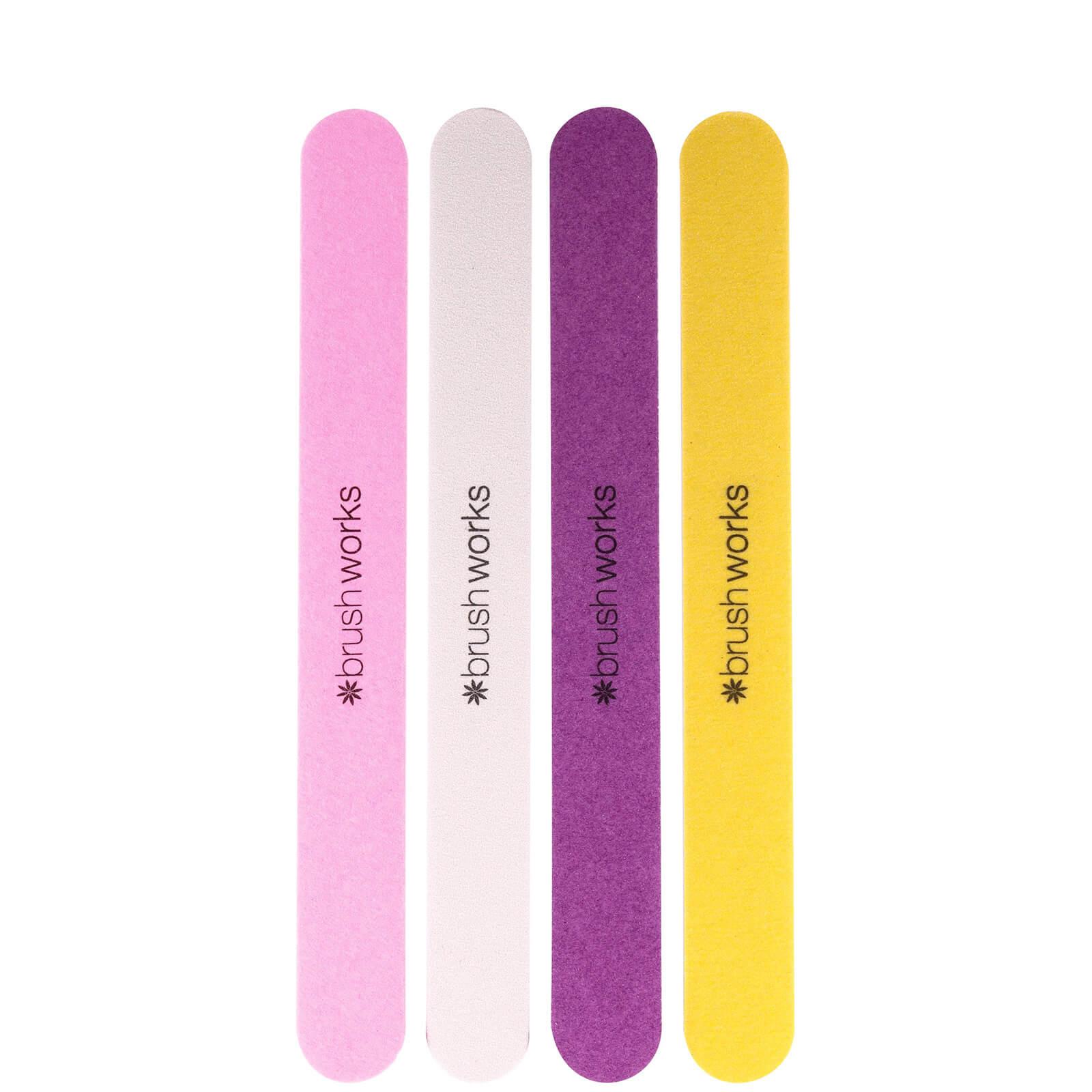 Купить Цветные пилки для ногтей brushworks Coloured Emery Boards (4 шт. в упаковке)