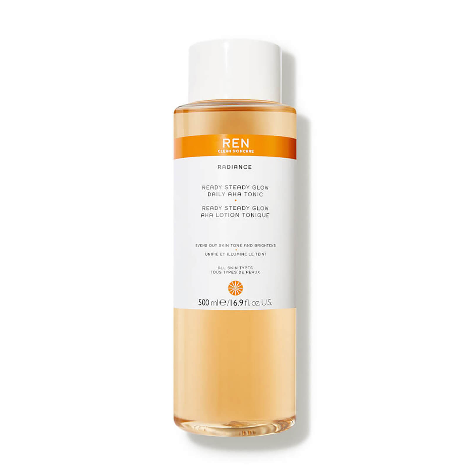 REN Clean Skincare Supersize Ready Steady Glow Daily AHA Tonic 500ml (Worth £50.00)